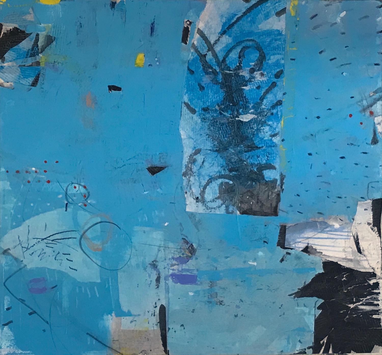 Blue Sky Canyon  40 X 43, Mixed Media on canvas