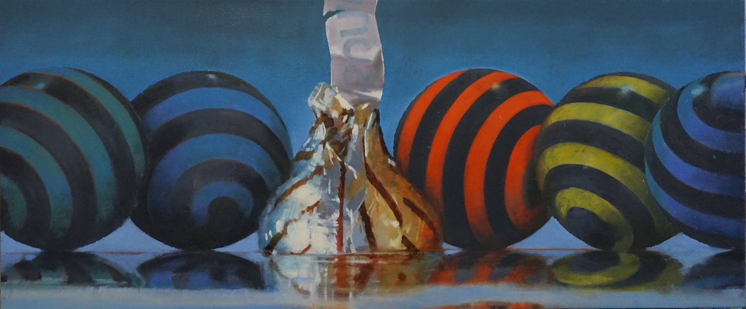 Group of Five , sold  23 x 55, oil on canvas