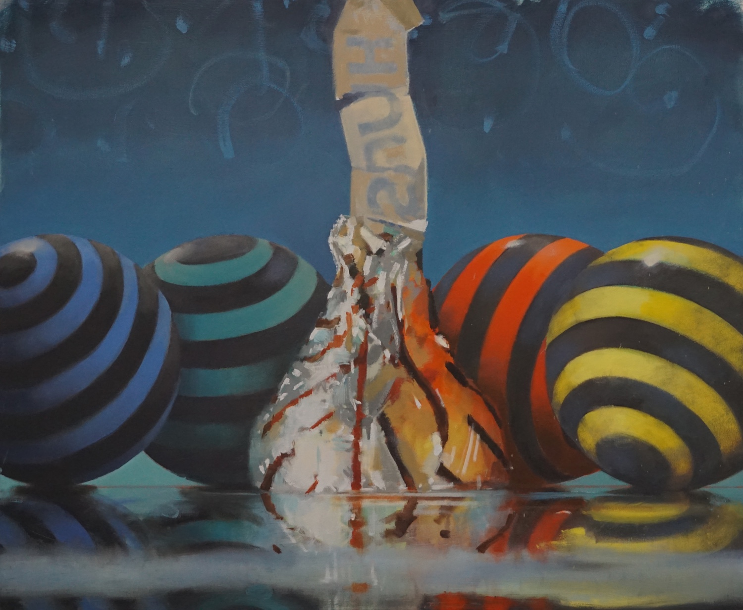 Four Plus One,  Jessup Cellars Gallery  33 x 40, oil on canvas