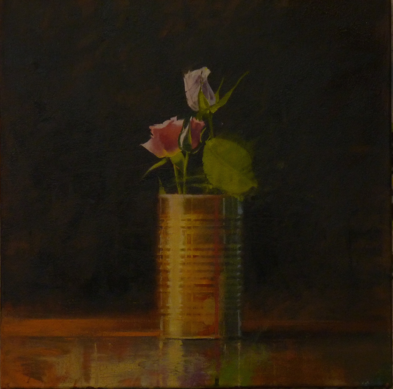 Canned Roses,  sold  24 x 24, oil on canvas
