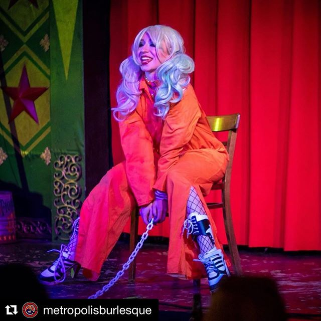 #Repost @metropolisburlesque with @get_repost ・・・ Wondering what happens at a NERDLESQUE show? Here's some shots from our July tribute to Kevin Smith, featuring @lydiavengeance as Harley Quinn! This Saturday at @bedlamnyc we tribute Riverdale - show starts at 8, $10-15 at the door or in our bio for a raffle ticket. All photos by @striker.posie #riverdale #harleyquinn #comics #comicbooks #comic #dccomics #archiecomics #costume #nycburlesque #burlesqueshow #burlesque #nerdy #nerdlesque #nerdyorkcity #popculture #thingstodoinnyc #nycevents #lowereastside #saturday #weekend #queernightlife #bodypositive #wedotheweirdstuff #datenight #suicidesquad