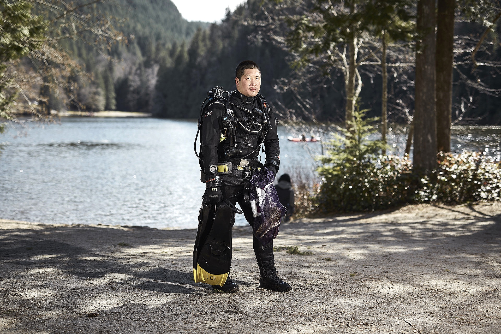Alice Lake Clean Up - Essay portraying scuba divers cleaning up debris from the Alice Lake