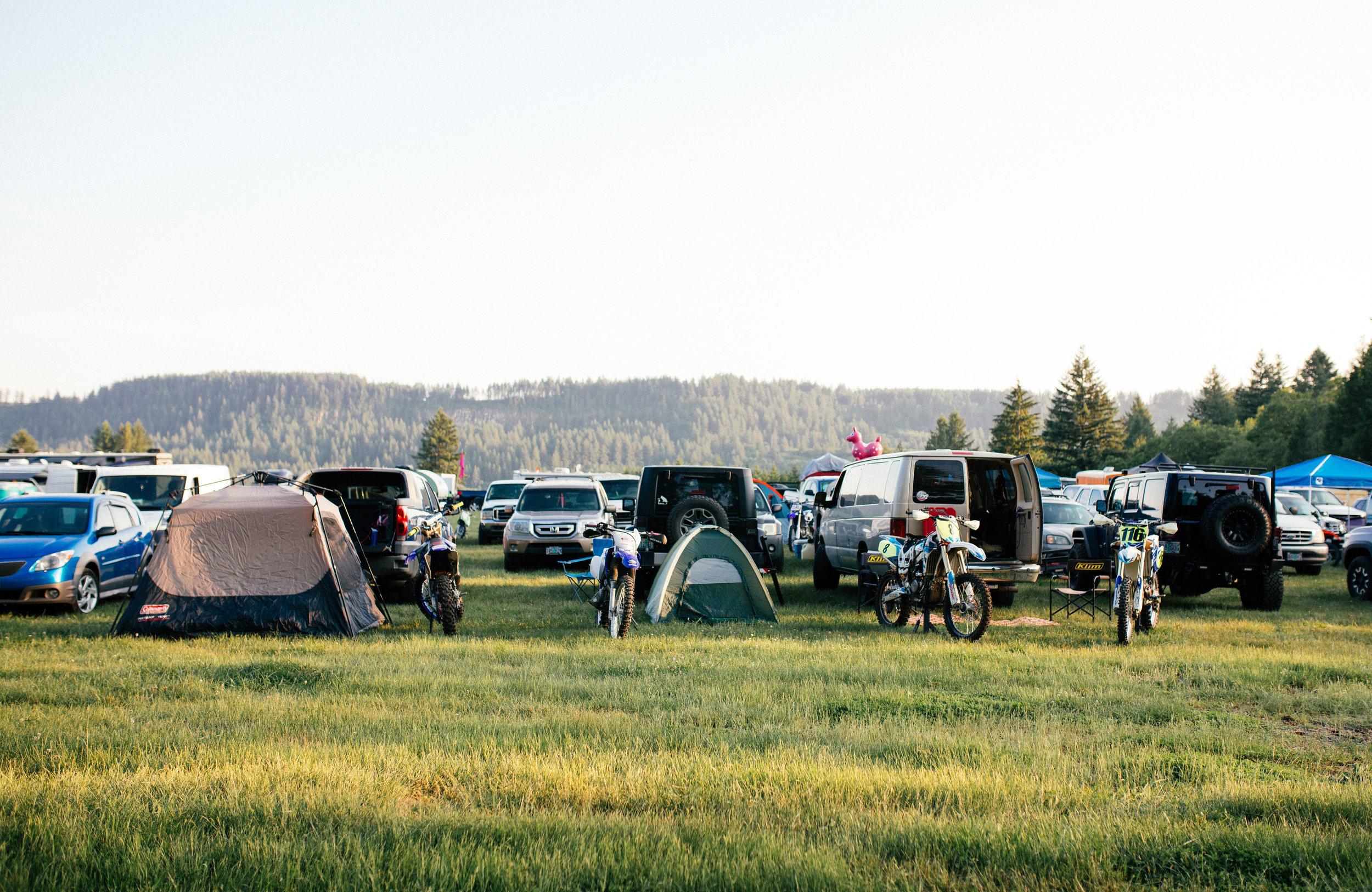 Camping at the beautiful Washougal MX Park