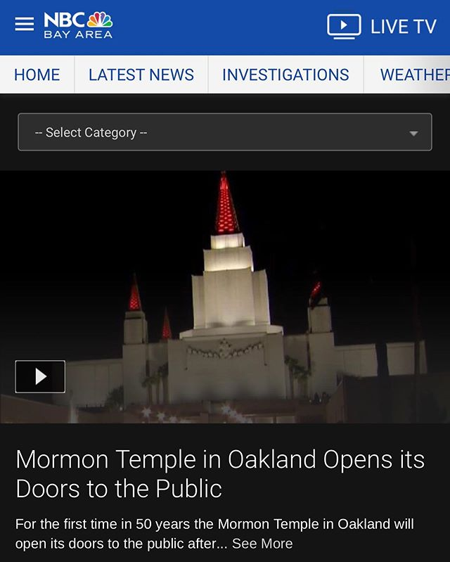 Over the last several weeks, news media from across the Bay Area has featured the Oakland Temple in articles, radio broadcasts, news reports, etc. Swipe left to see just a few of them. You can read all press coverage of the Oakland Temple Open House at oaklandtemple.org/press.
