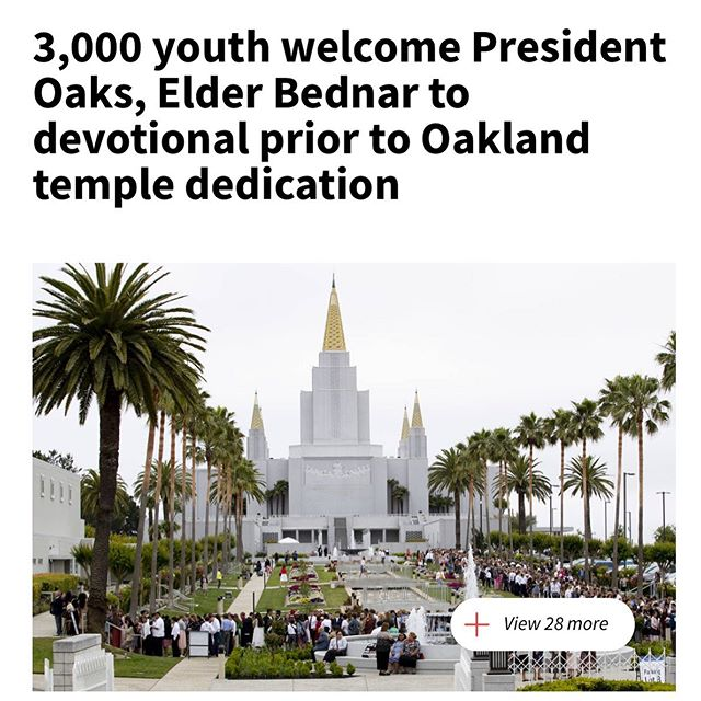 Read more about the Oakland Temple Youth Devotional using the @thechurchnews link in our profile.
