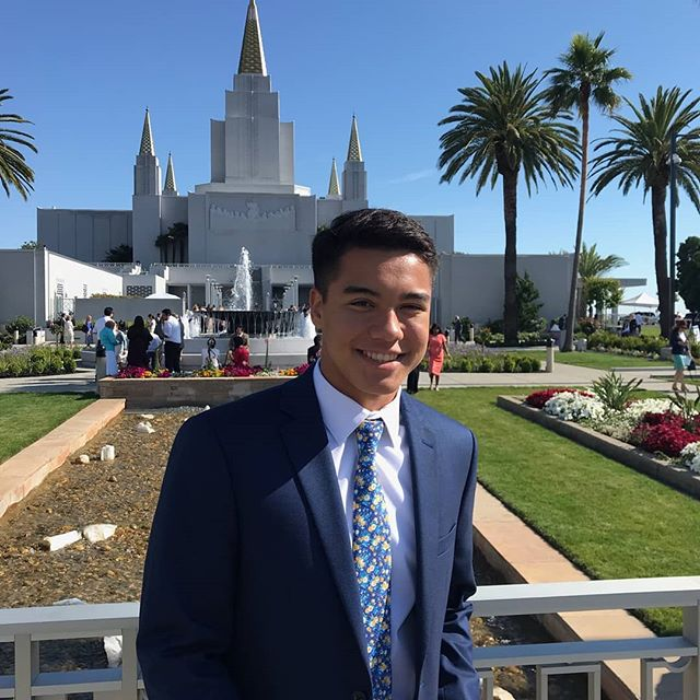 "Jason from the Modesto Stake spoke at the Oakland Temple Rededication this afternoon at the 3pm session. He loves to play basketball. His favorite scripture is Philippians 4:13, ""I can do all things through Christ which strengtheneth me."""