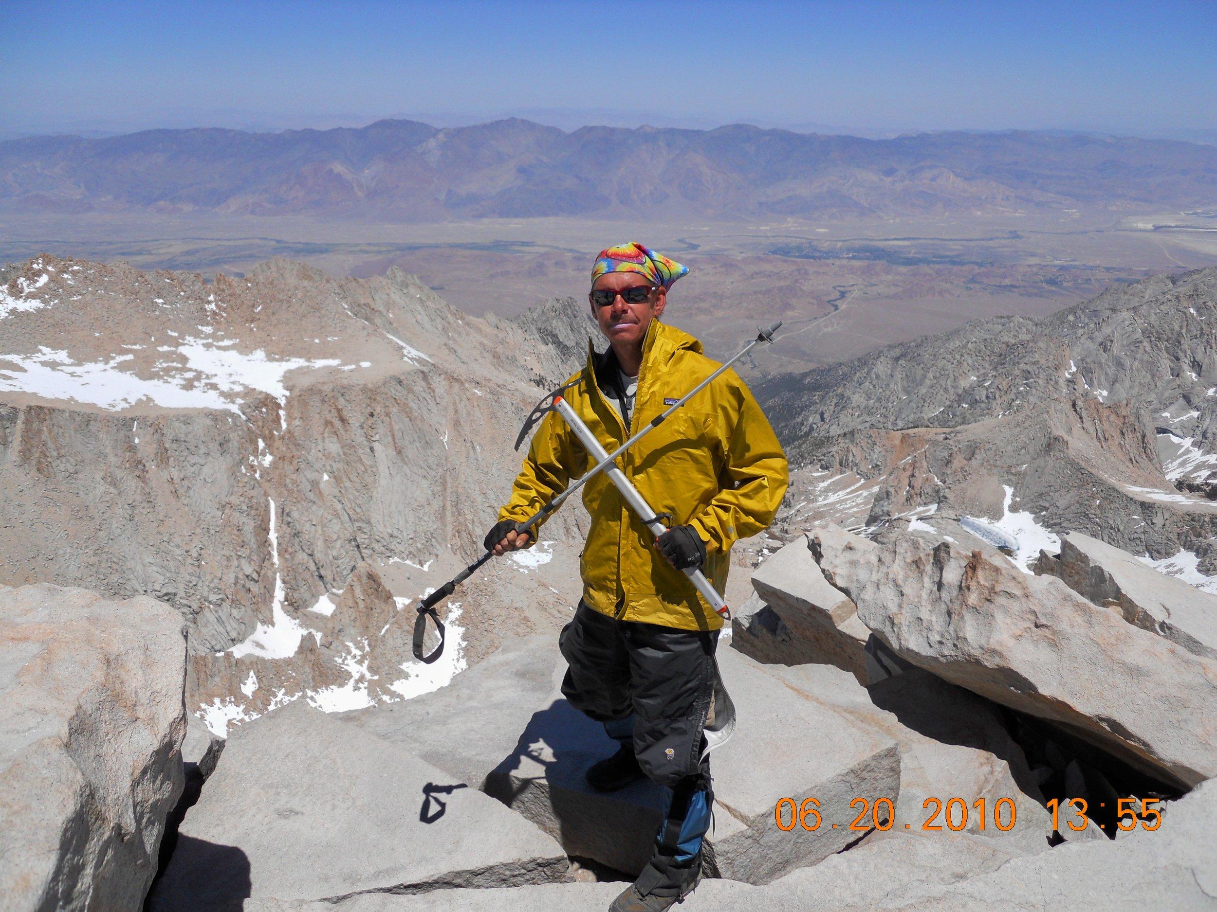Mount Whitney elevation 14,505 ft, 2010