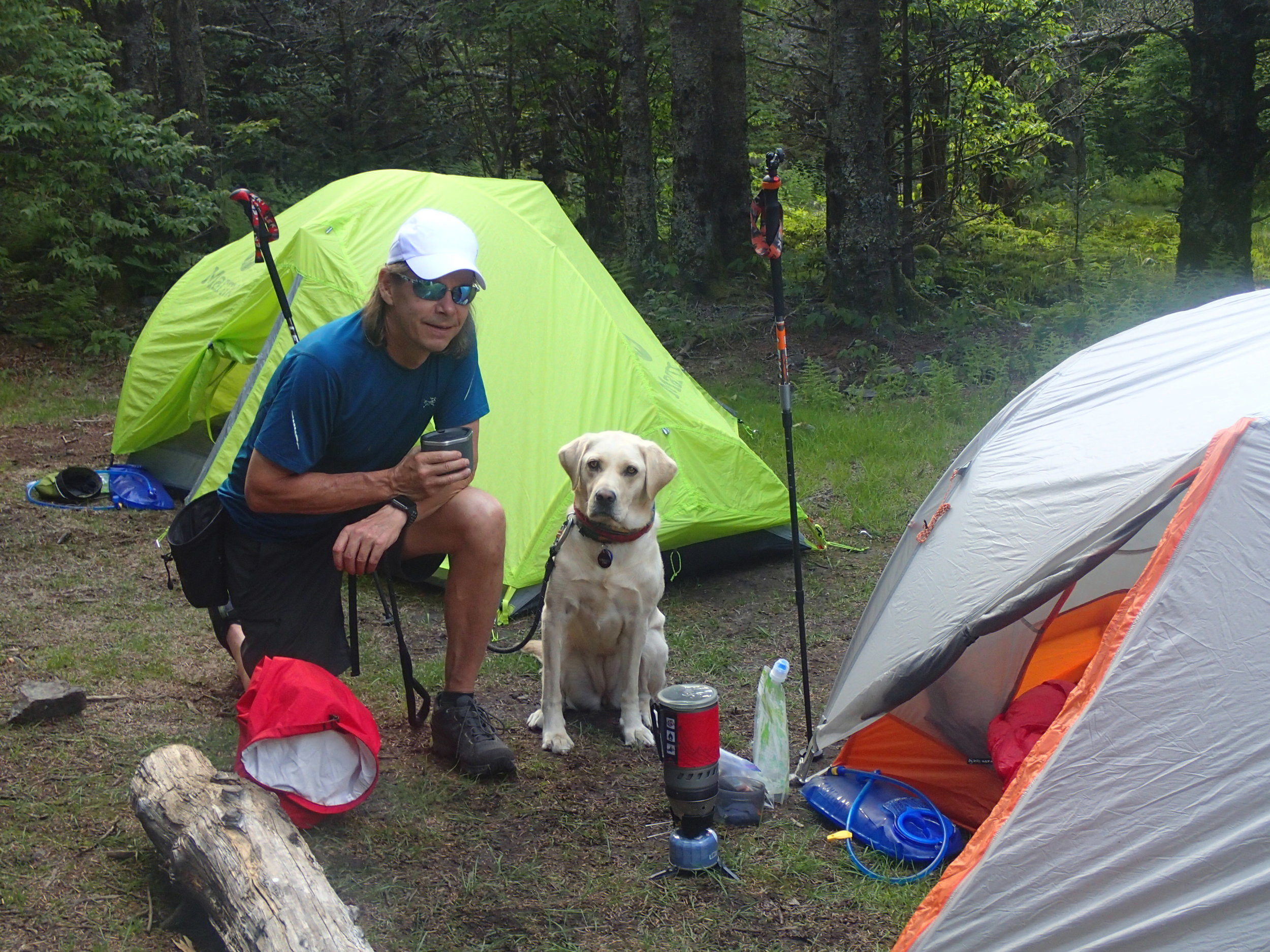 Lulu learns to hike and camp at Grayson Highlands on the Appalachian Trail.