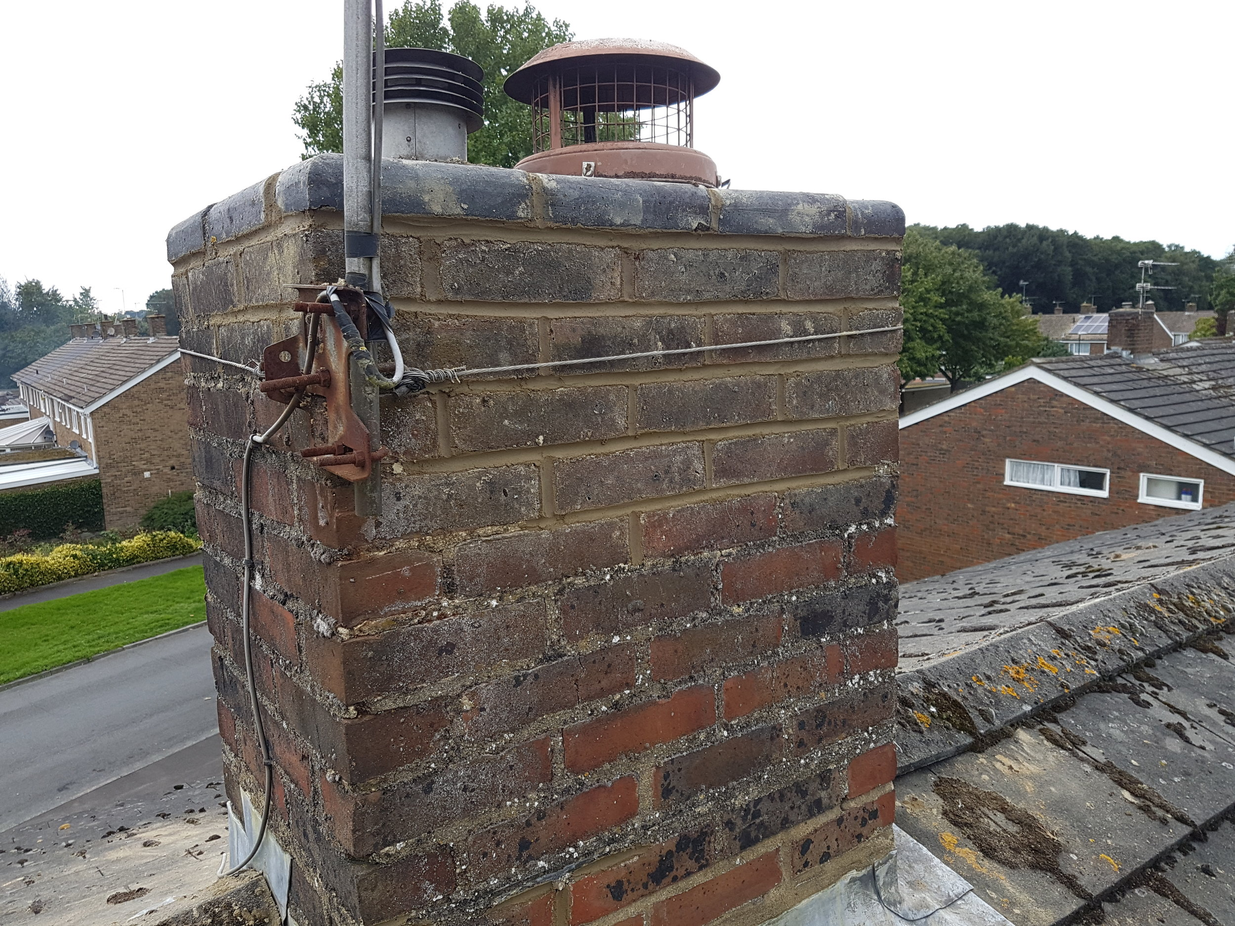 Repointing old brick work - Old brick work can loose its durabilaty with age due to poor mortar joint. When this is the case the old mortar needs to be grinded out then repointed with new fresh sand and cement (mortar). Not only does this completely strengthen the brick work but if gives it a nice new fresh look if done properly.