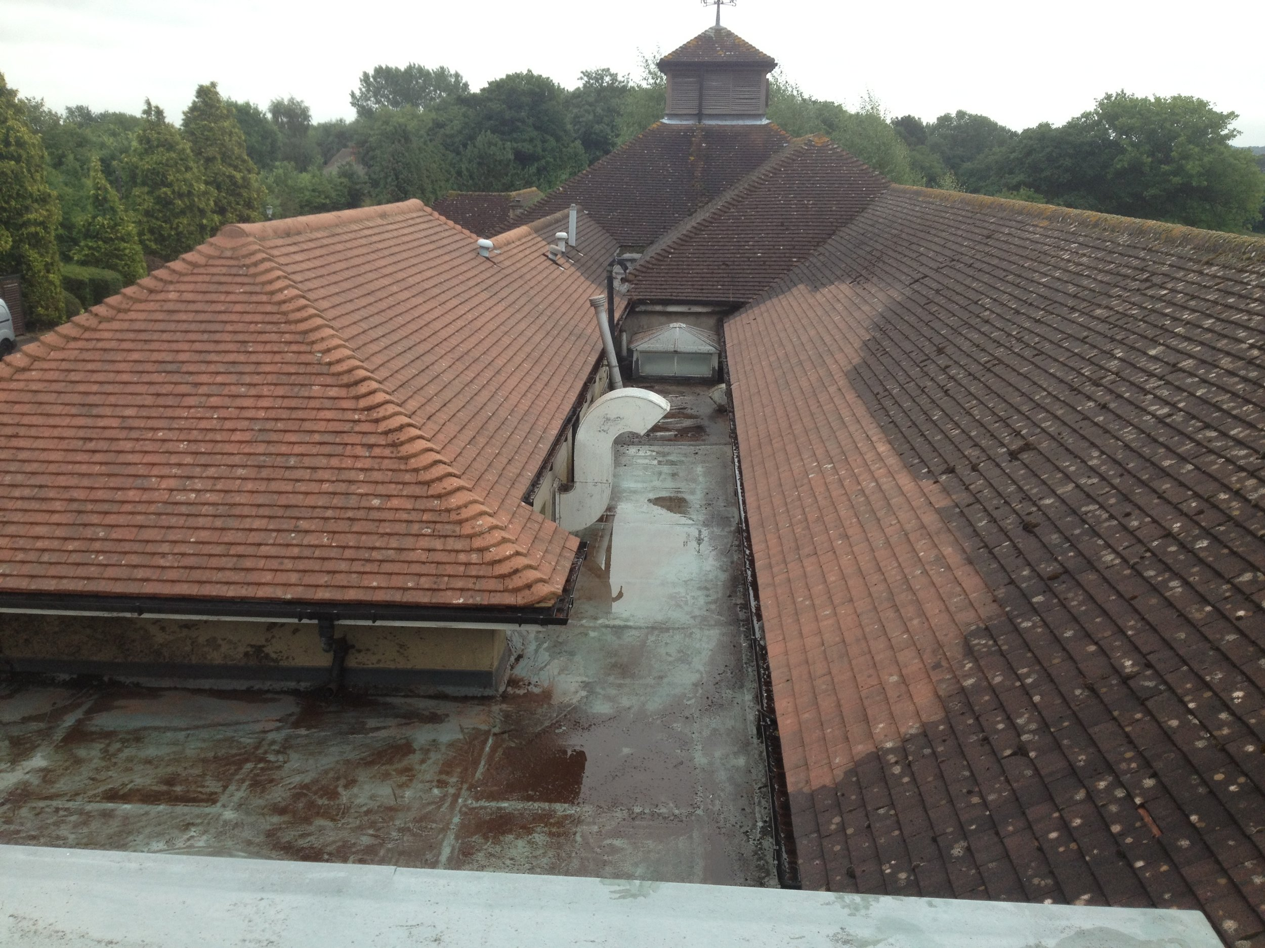 Roof Restoration / Cleaning - We specialize in removing moss, dirt and algae from any type of roof. So please contact us and we will provide you with a FREE site visit and written quotation.