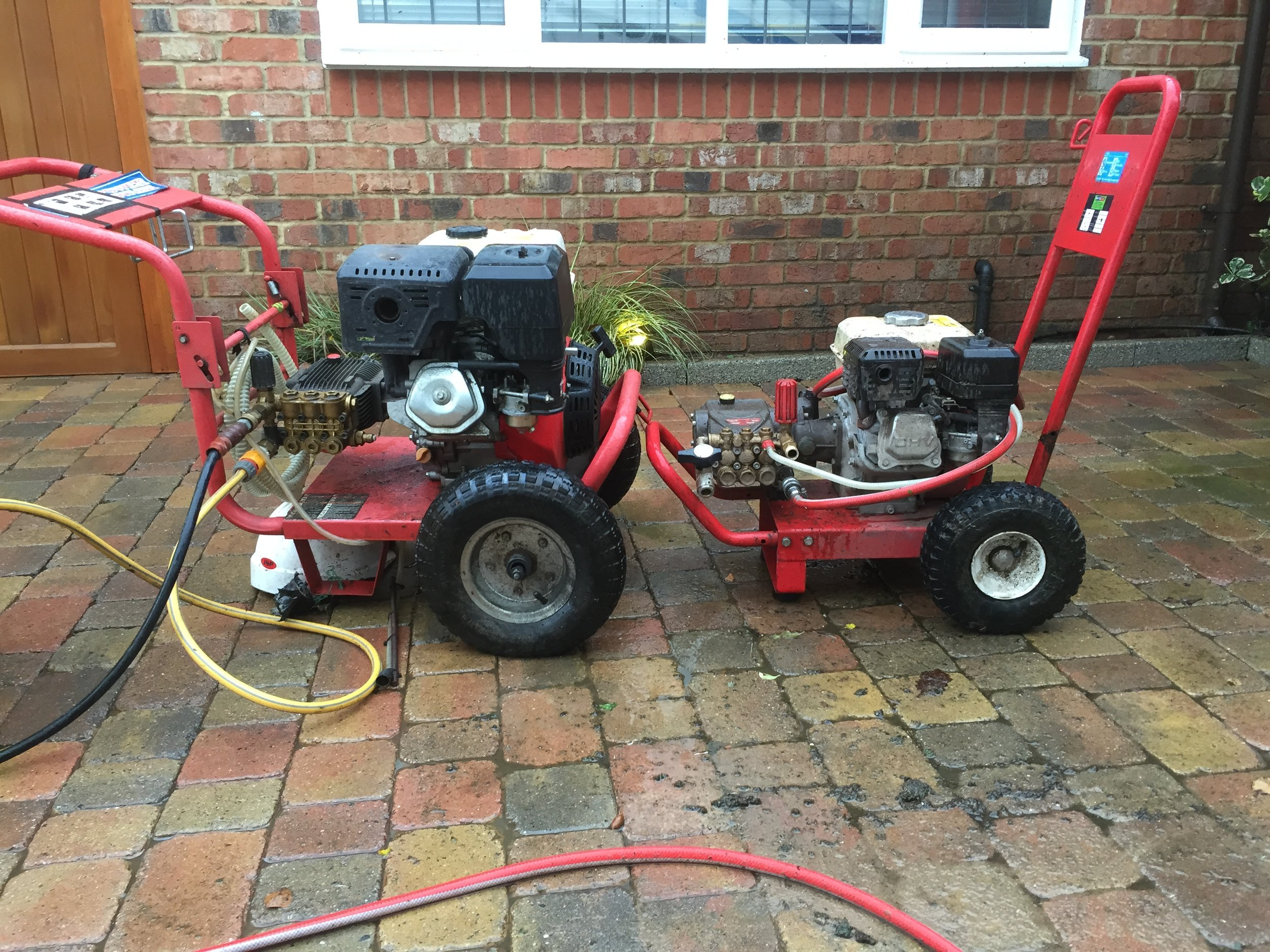 The reason why were so affordable. - With our range of pressure washers there are no stones left uncleaned. We are equipt for all domestic and commercial pressure washing projects. With our larger pressure washer we can be in and out faster than most pressure washing companieswithout compramising on quality. This also helps us to keep cost down for everyone.