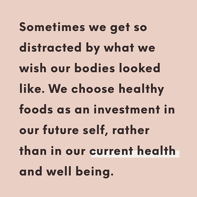Just a reminder ✨ We often get so caught up on chasing an image or a number and lose sight of the why. Of course we're all striving to look and feel our best for the many days, weeks and years to come, but it's important to remember your body today. Do what feels good and nourish your body for today ✨ #thehealthiestme