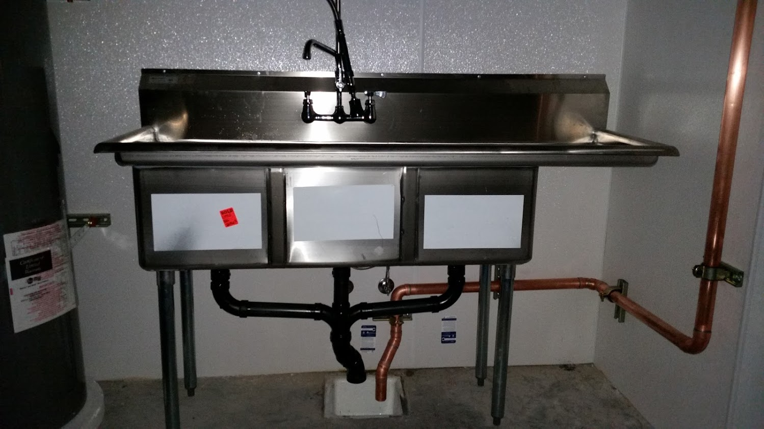 Scullery sink commercial plumbing