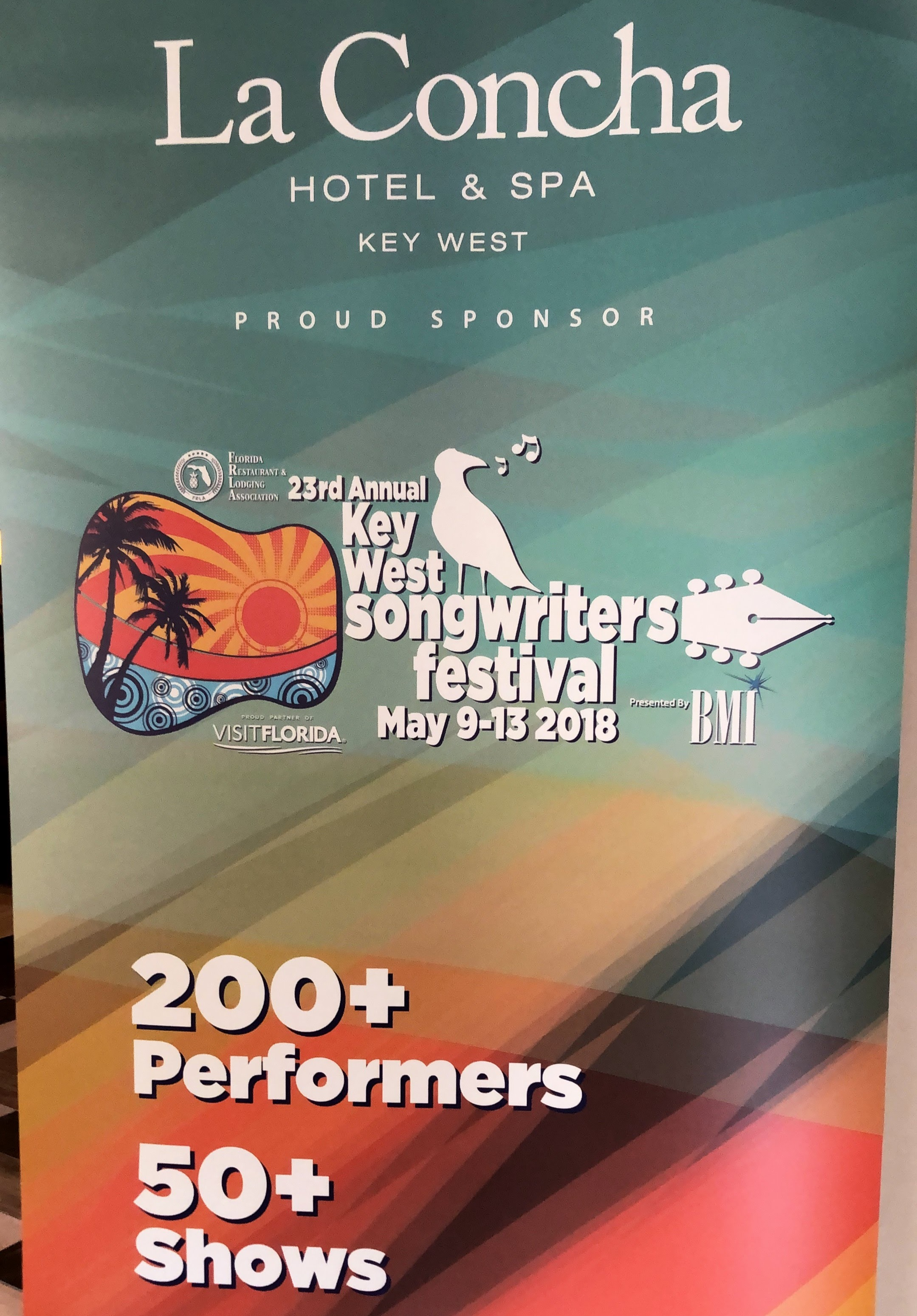 23rd Annual Key West Songwriters Festival – May 9th-13th, 2018 - We didn't realize this until we got there, but the week we went down was the Key West Songwriters' Festival, so we got to check out so much live music at night! I was especially excited to see Carolina Story, and I heard that Florida Georgia Line was also here. Apparently this is a huge event for up-and-coming country music folks (I'm more of a pop punk girl but I do enjoy more acoustic-y / folksy types of country, as well as some of the popular hits). The festival was really fun to be in town for & I want to go back for it every year.