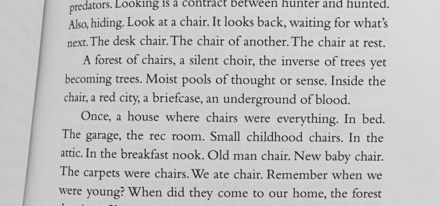 """The Sky Above Chairs,"" Gary Barwin"