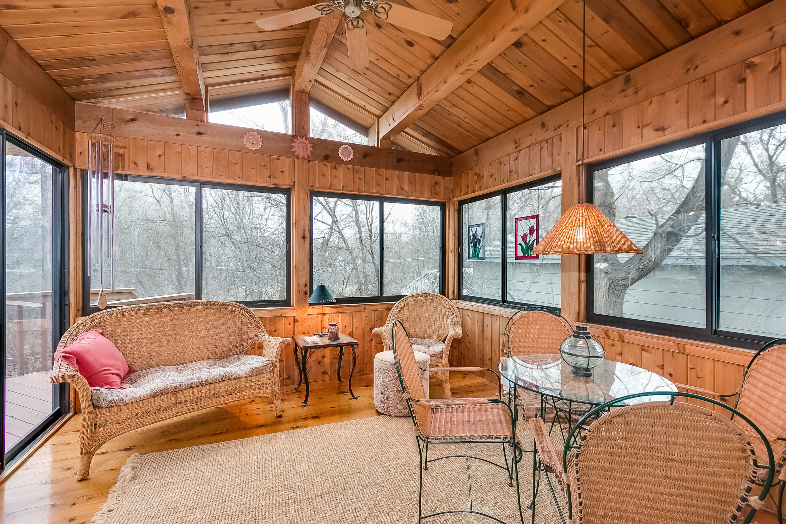 Beautiful 4 season porch built by a client