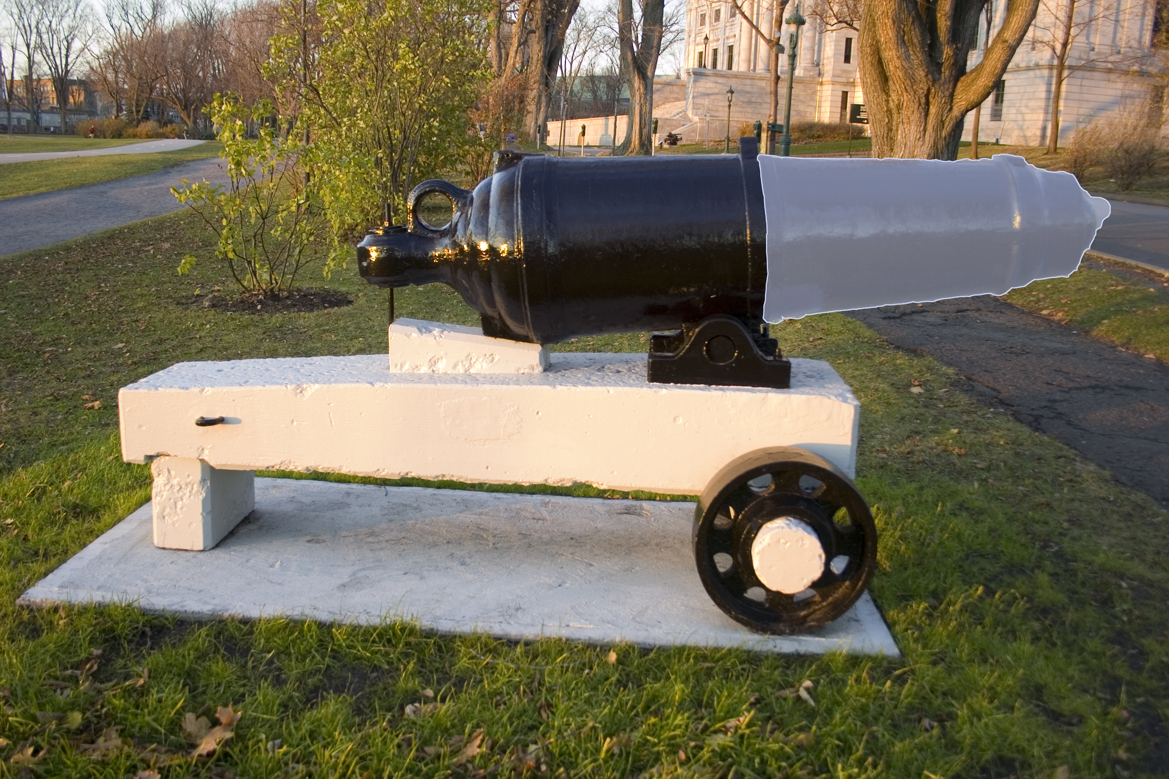 Mock up of proposal for the canons in the Fields of Abraham, Quebec city