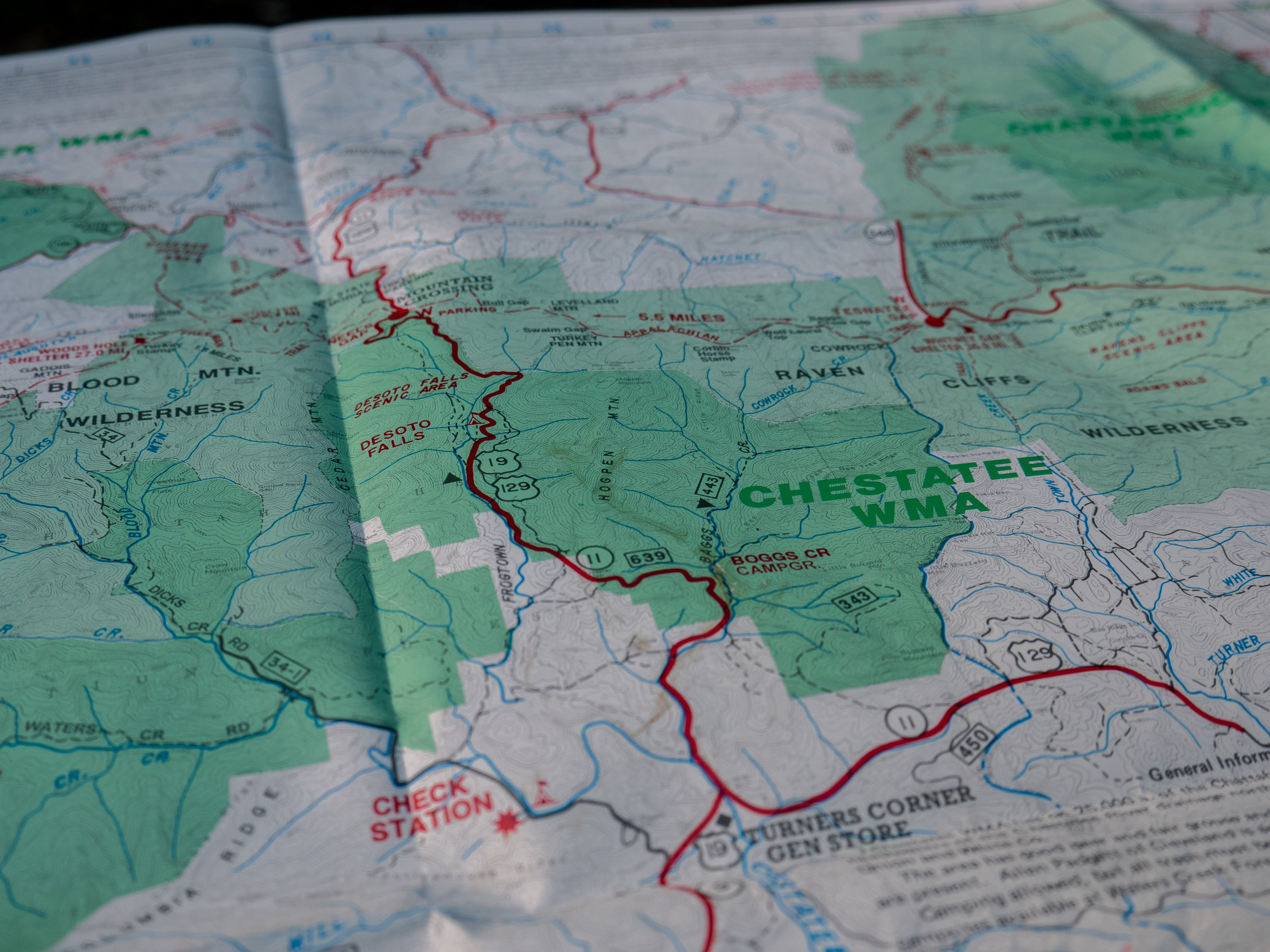The Chestatee WMA is located near Cleveland, Georgia, in the foothills of the Appalachian Mountains.