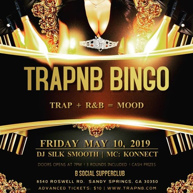 Tickets are on sale now for our next TrapnB Bingo event on 5/10... who said Bingo can't be lit? 🔥