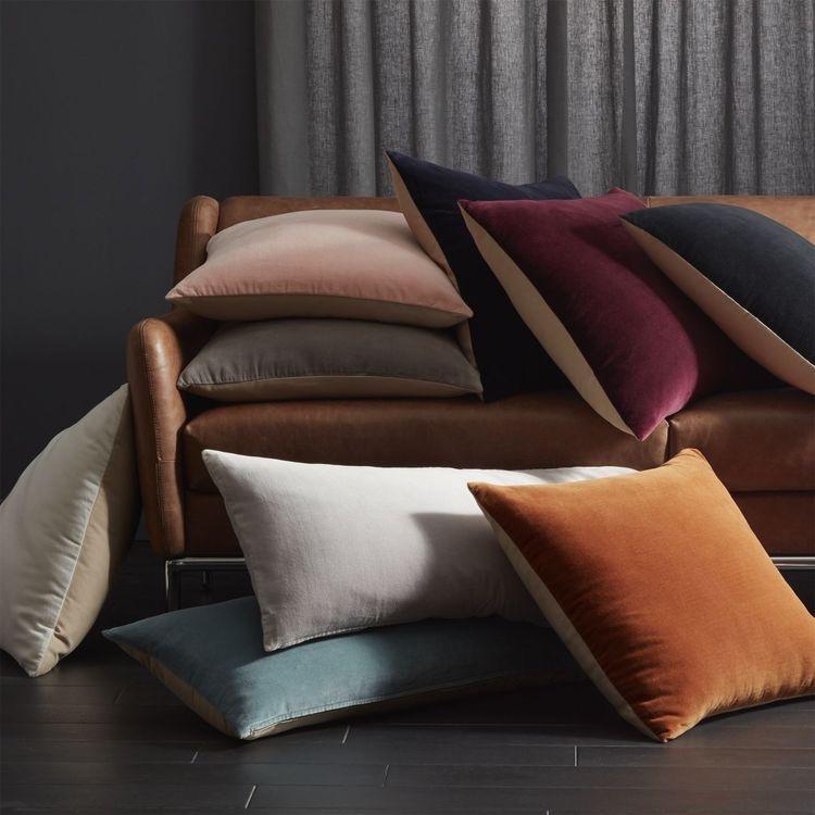 8. Velvet pillows