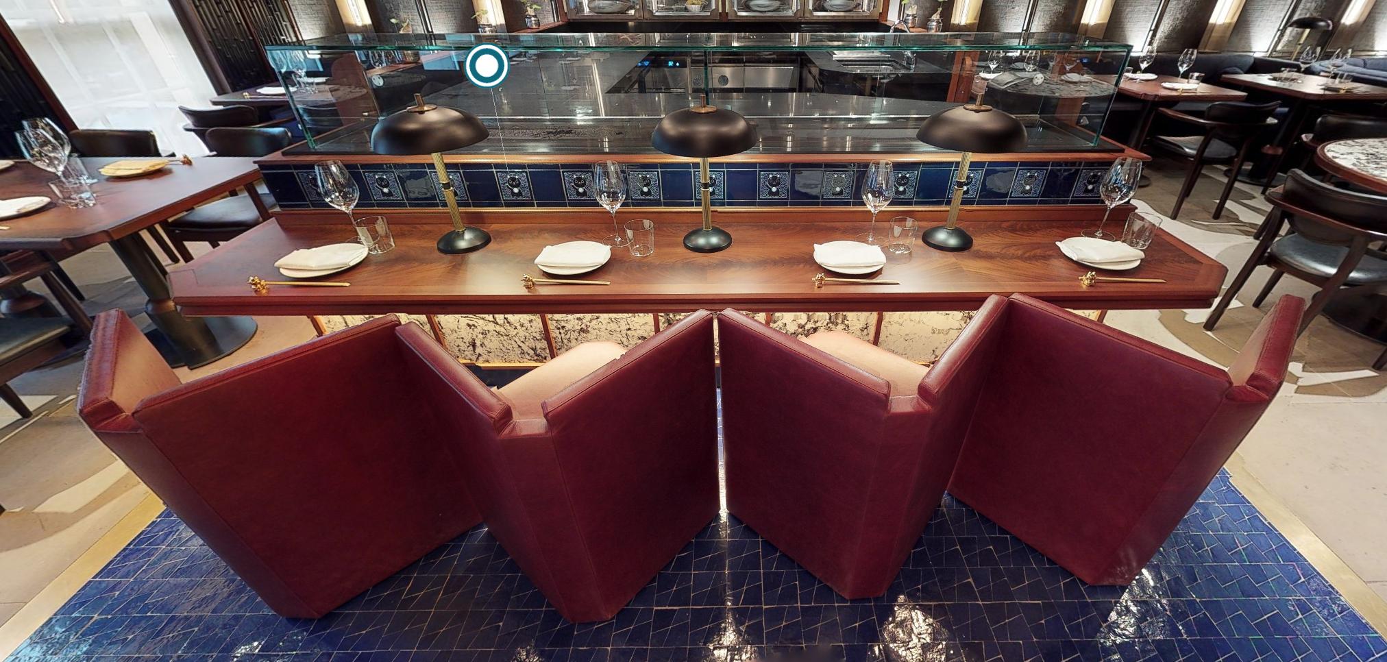 Unique bar chairs v-shape