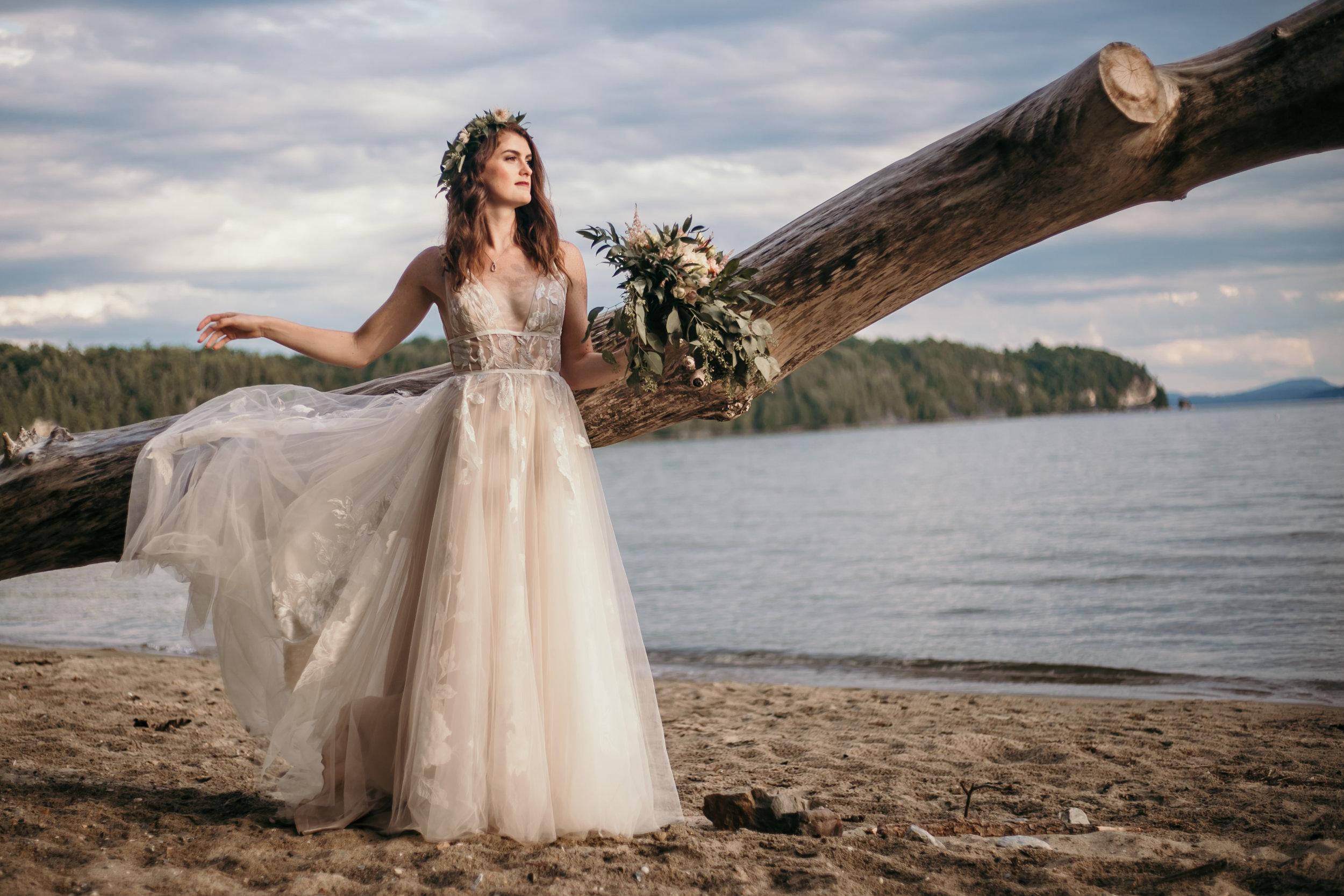 Vermont Beach Bride Lake Champlain