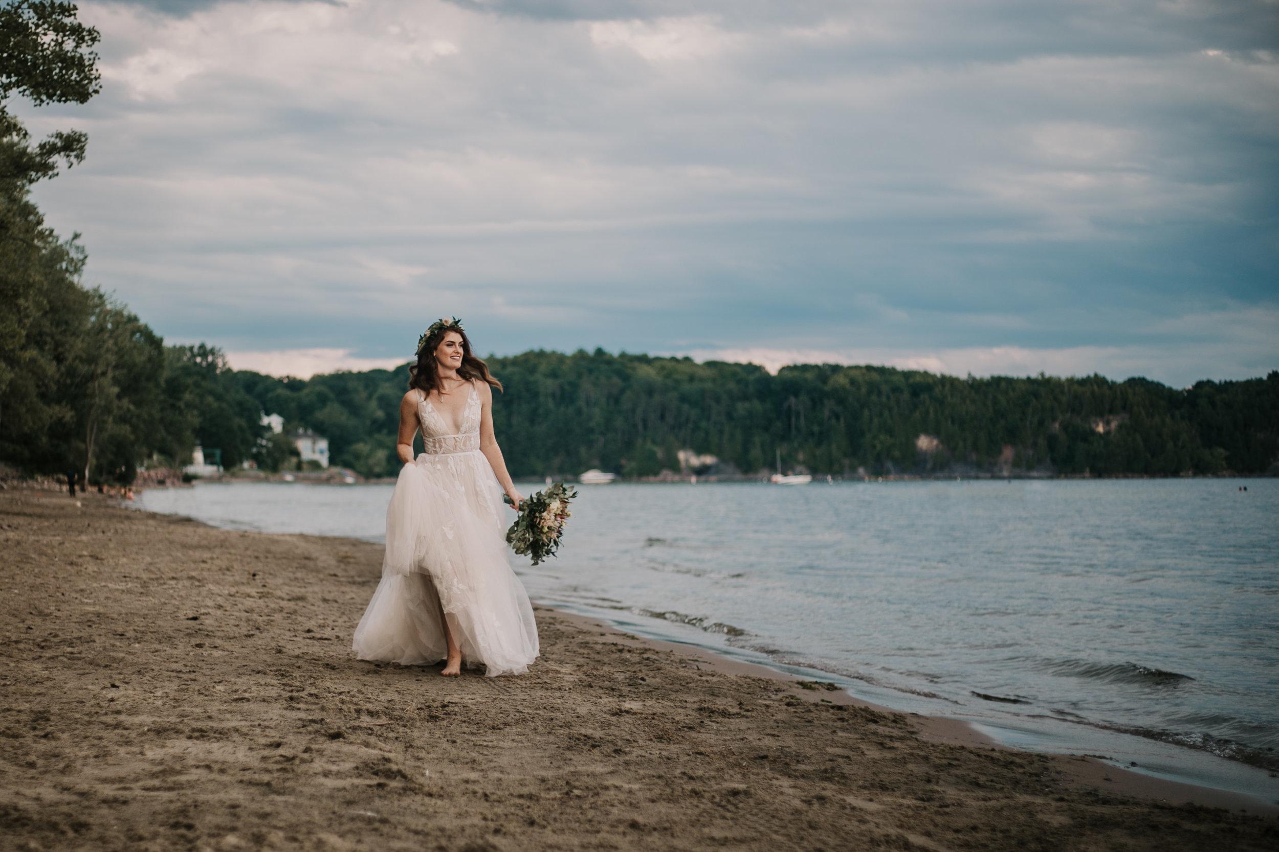 Burlington Vermont Beach Bride
