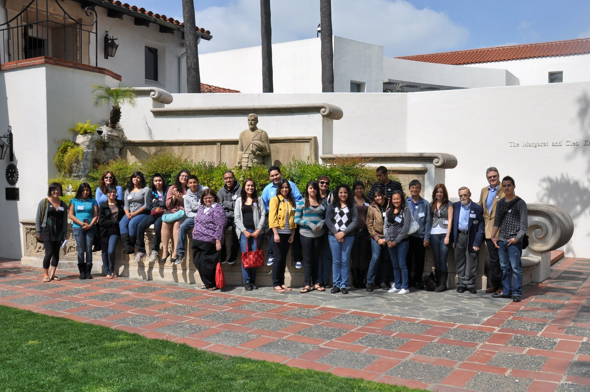 HCF field trip with students from Santa Ana College to Bowers Museum, Santa Ana, California | 2012