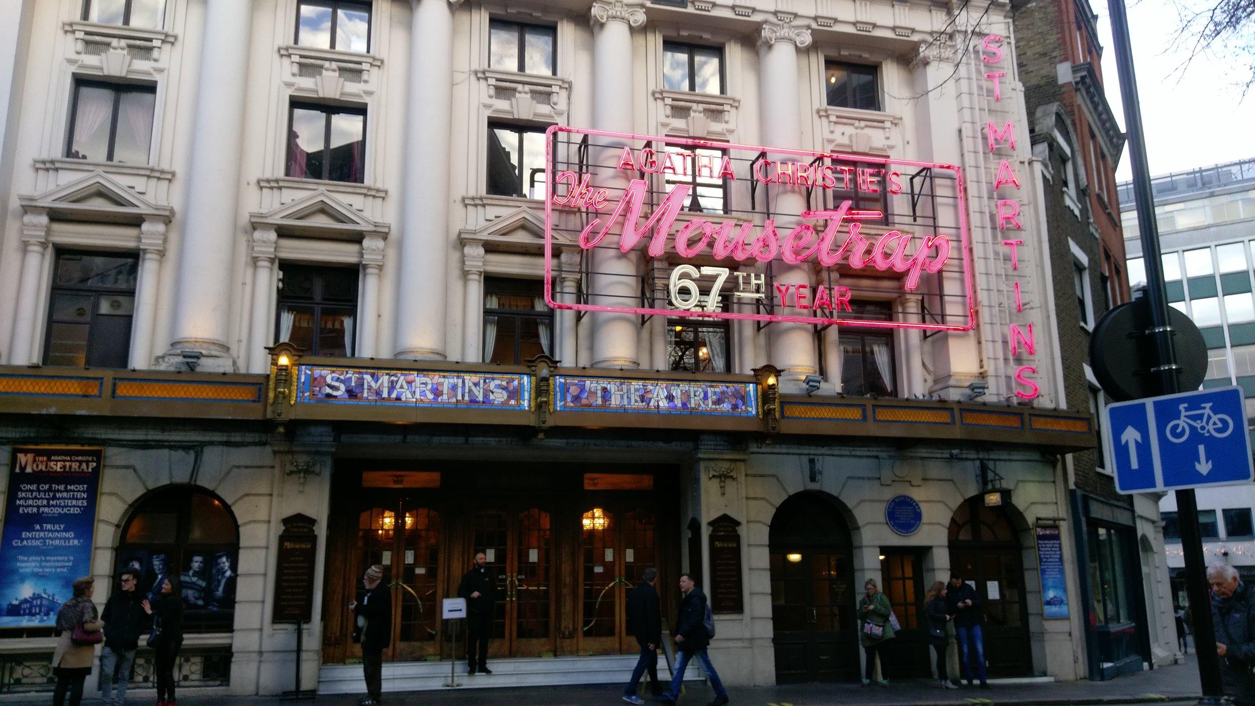 St Martin's Theatre - visited 01/01/2019