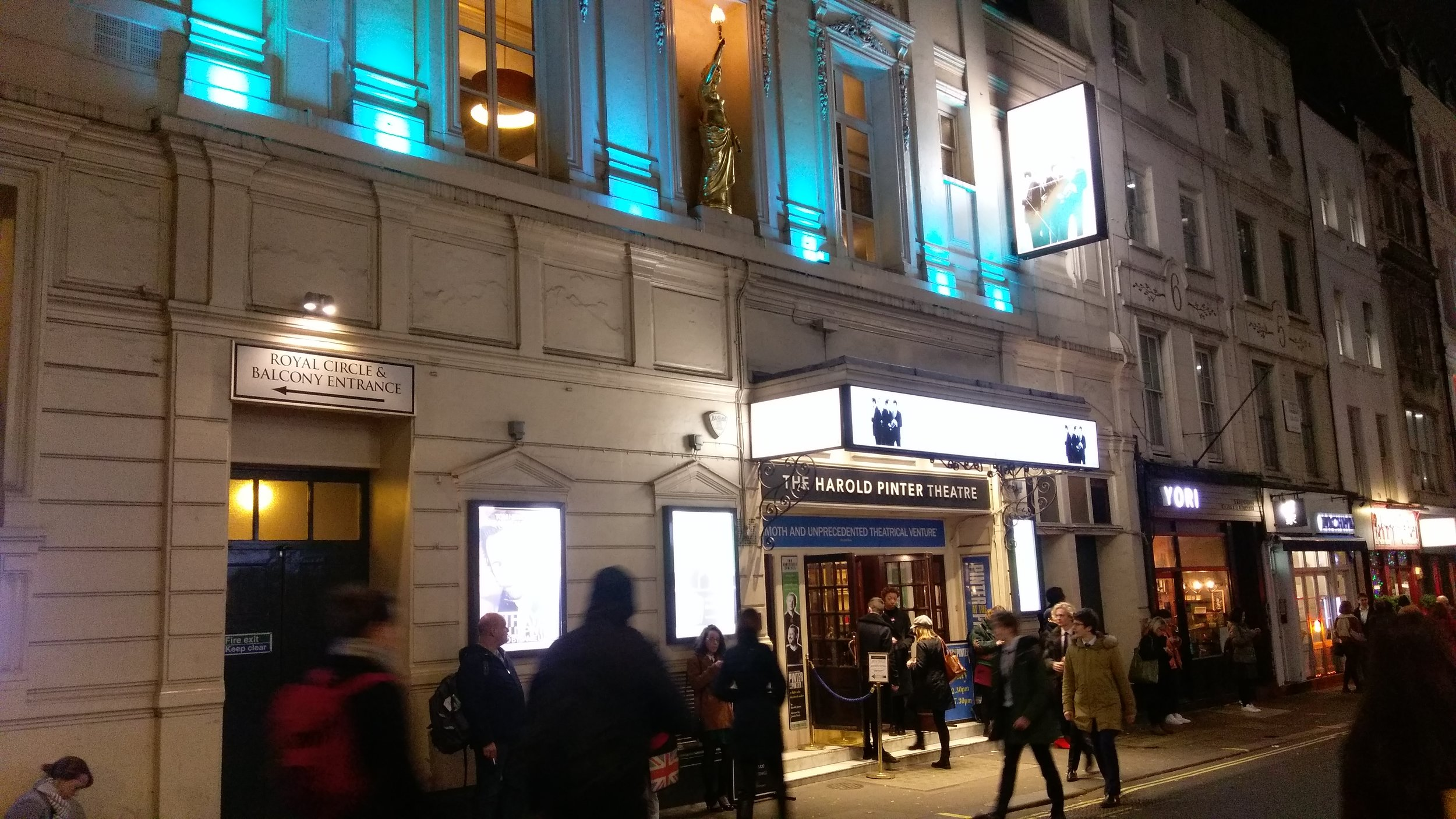 Harold Pinter Theatre - visited 07/02/2019