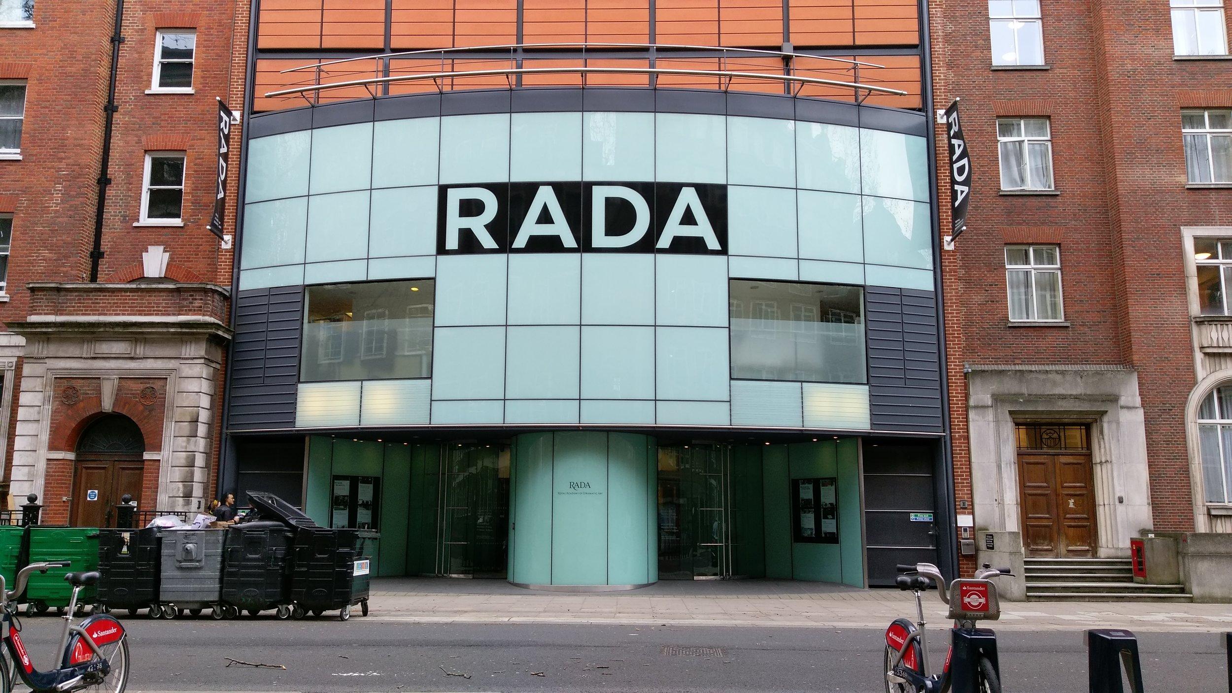 RADA(George Bernard Shaw Theatre) - visited 09/02/2019