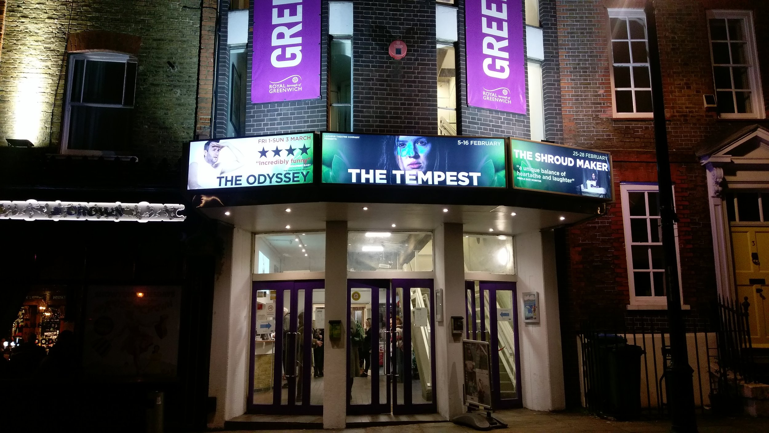 Greenwich Theatre - visited 19/02/2019