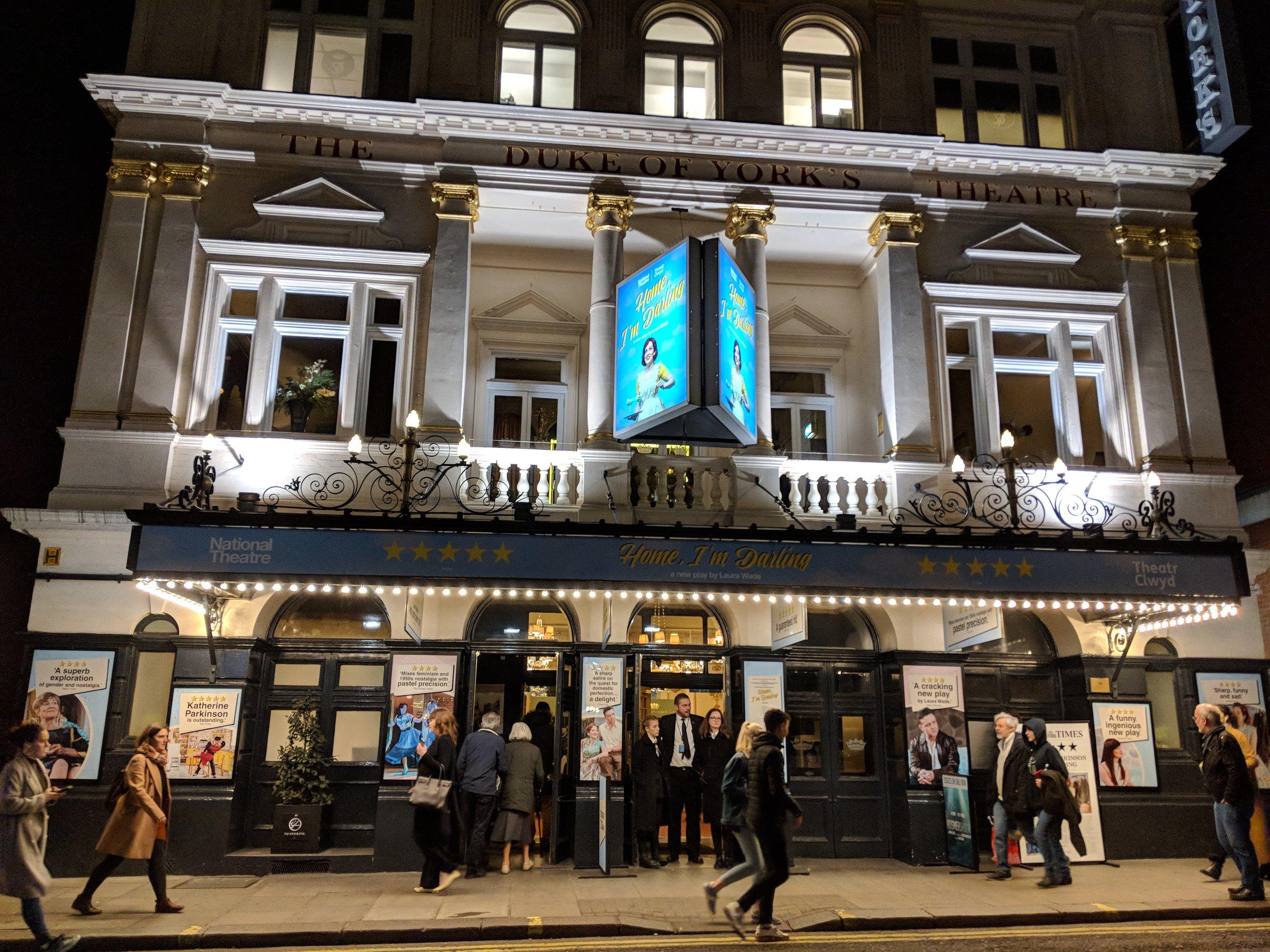 Duke of York's Theatre - visited 28/02/2019