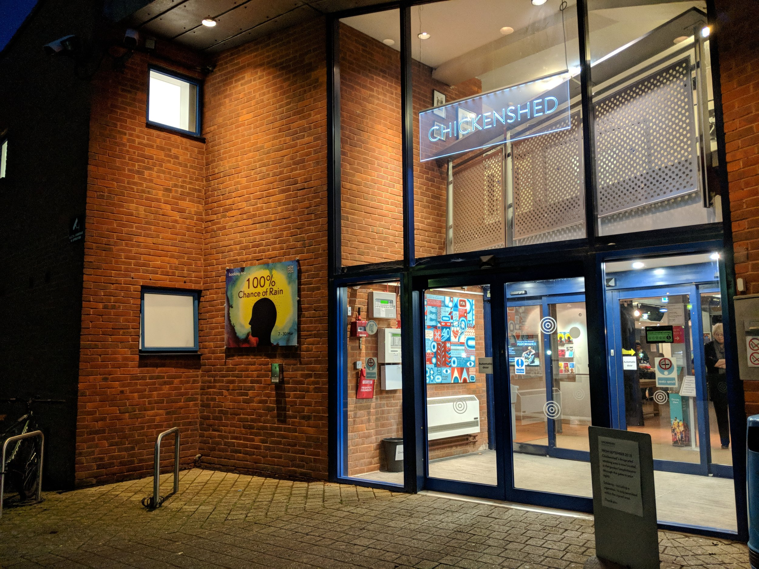 Chickenshed Theatre(Raynes Theatre) - visited 12/03/2019