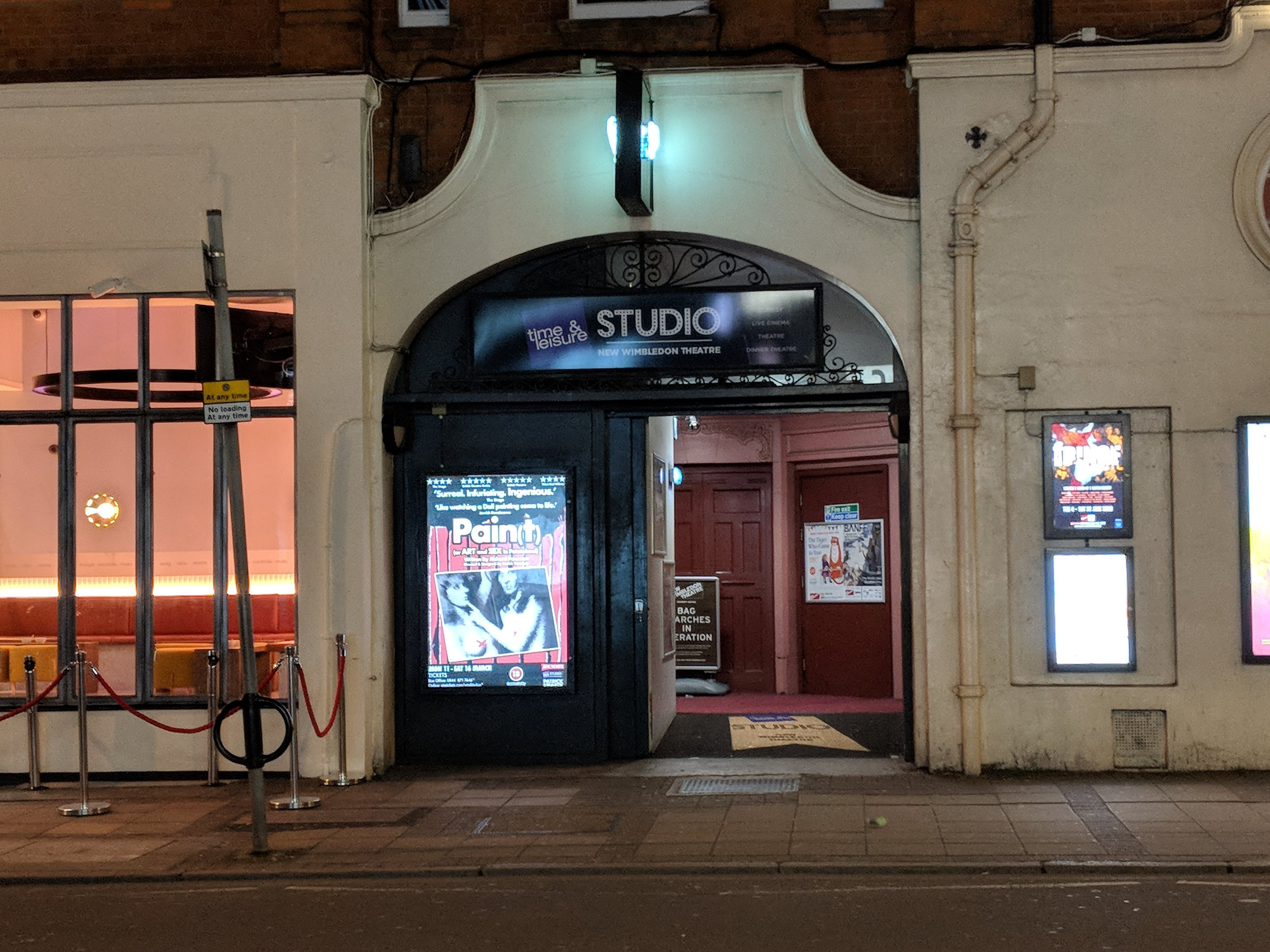 New Wimbledon Theatre(Time and Leisure Studio) - visited 11/03/2019
