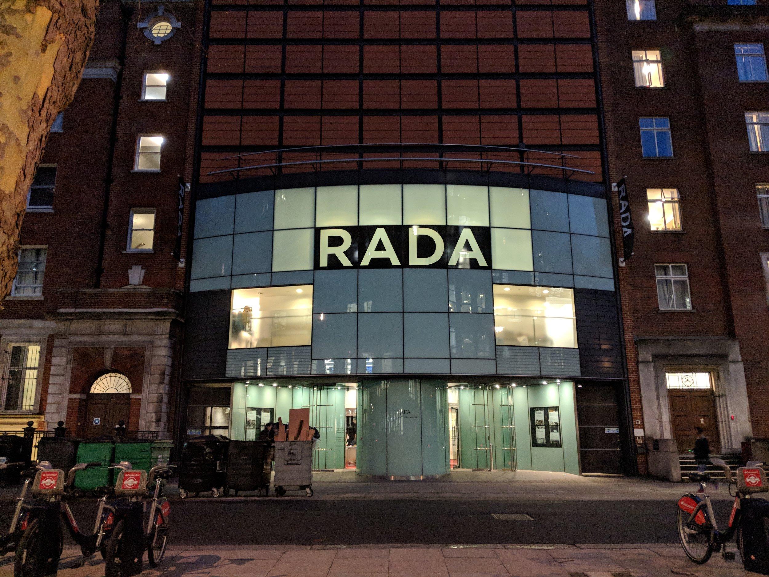 RADA(Jerwood Vanbrugh Theatre) - visited 18/03/2019