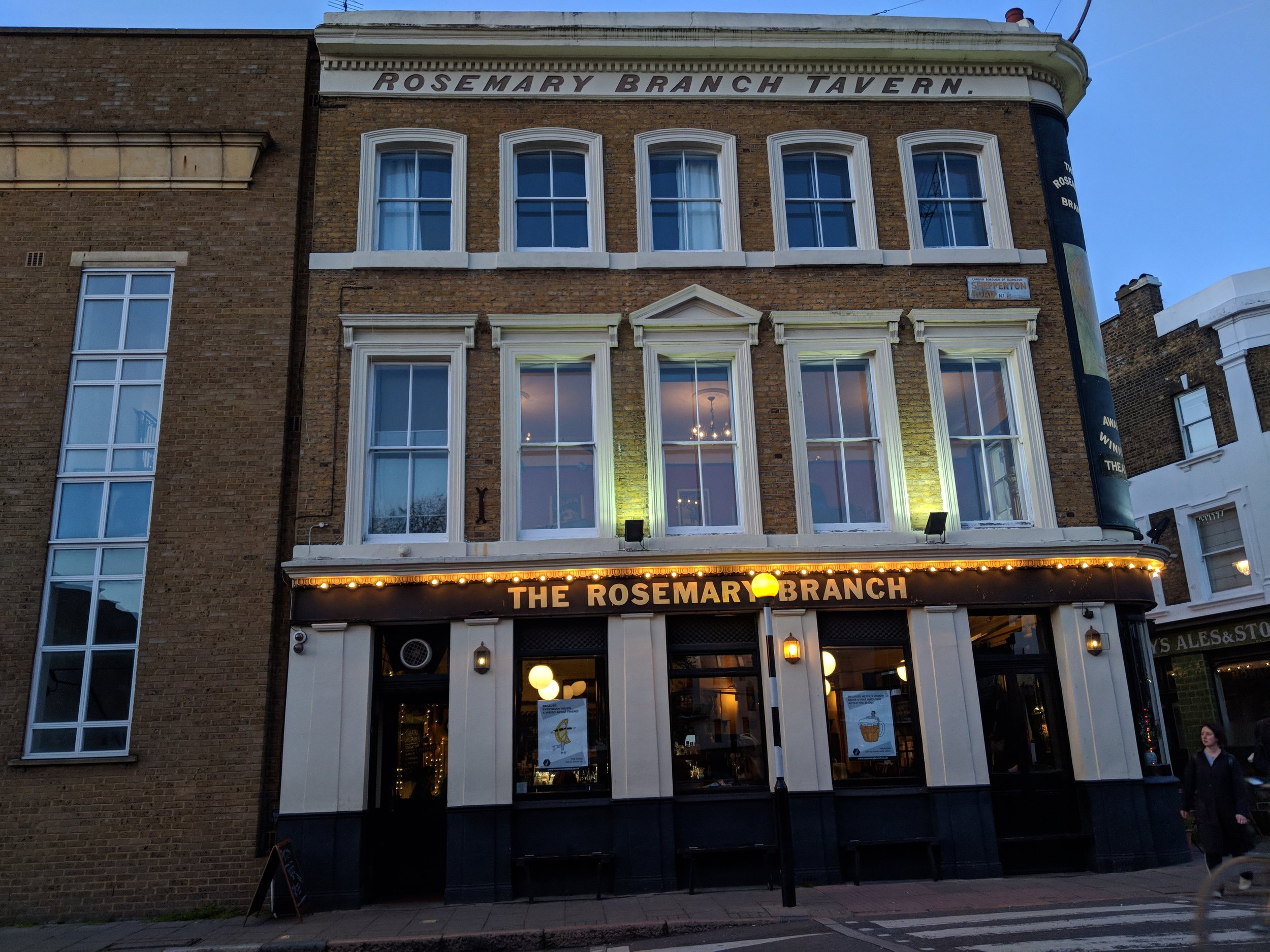 Rosemary Branch Theatre - visited 25/03/2019