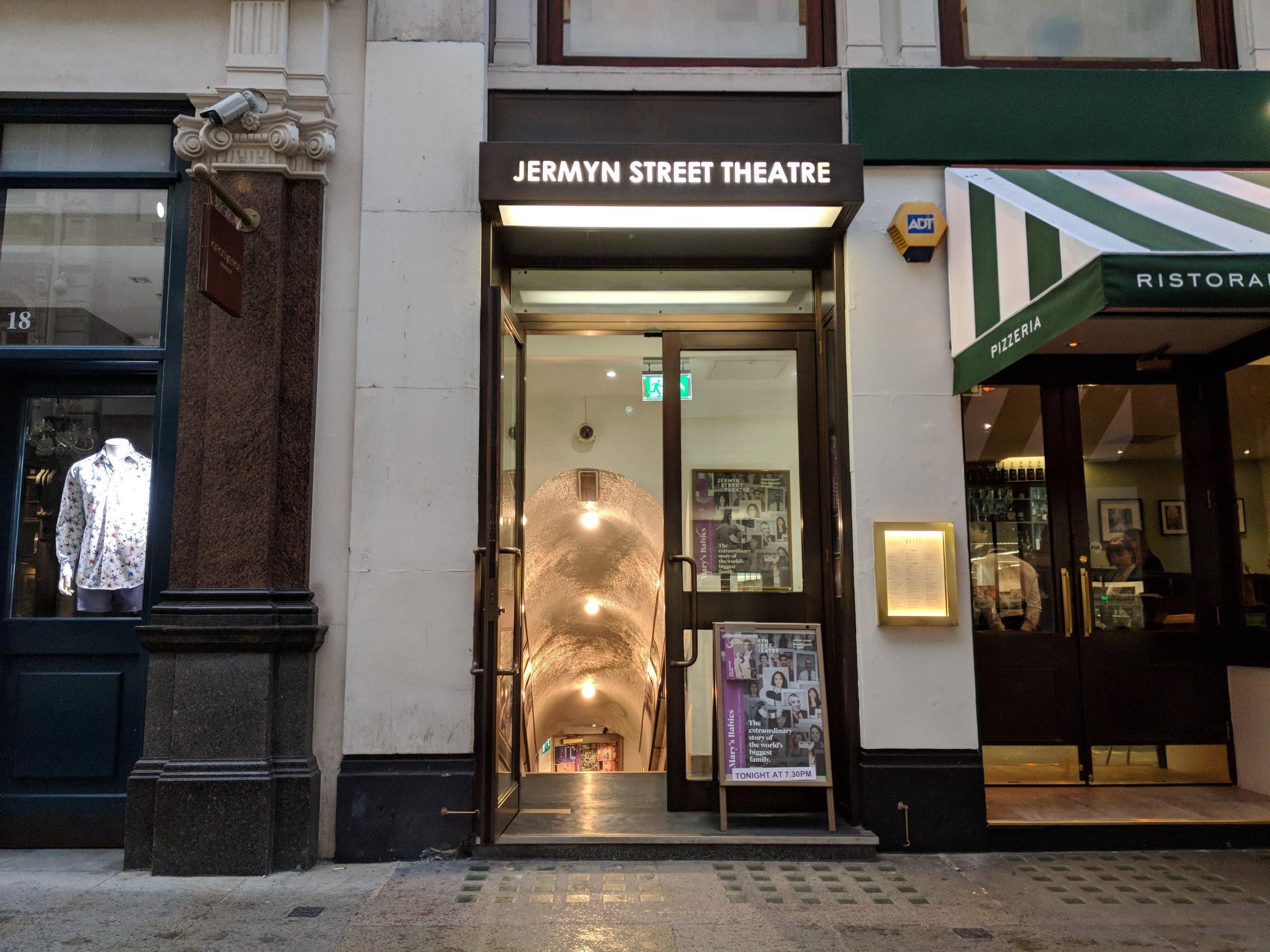 Jermyn Street Theatre - visited 02/04/2019