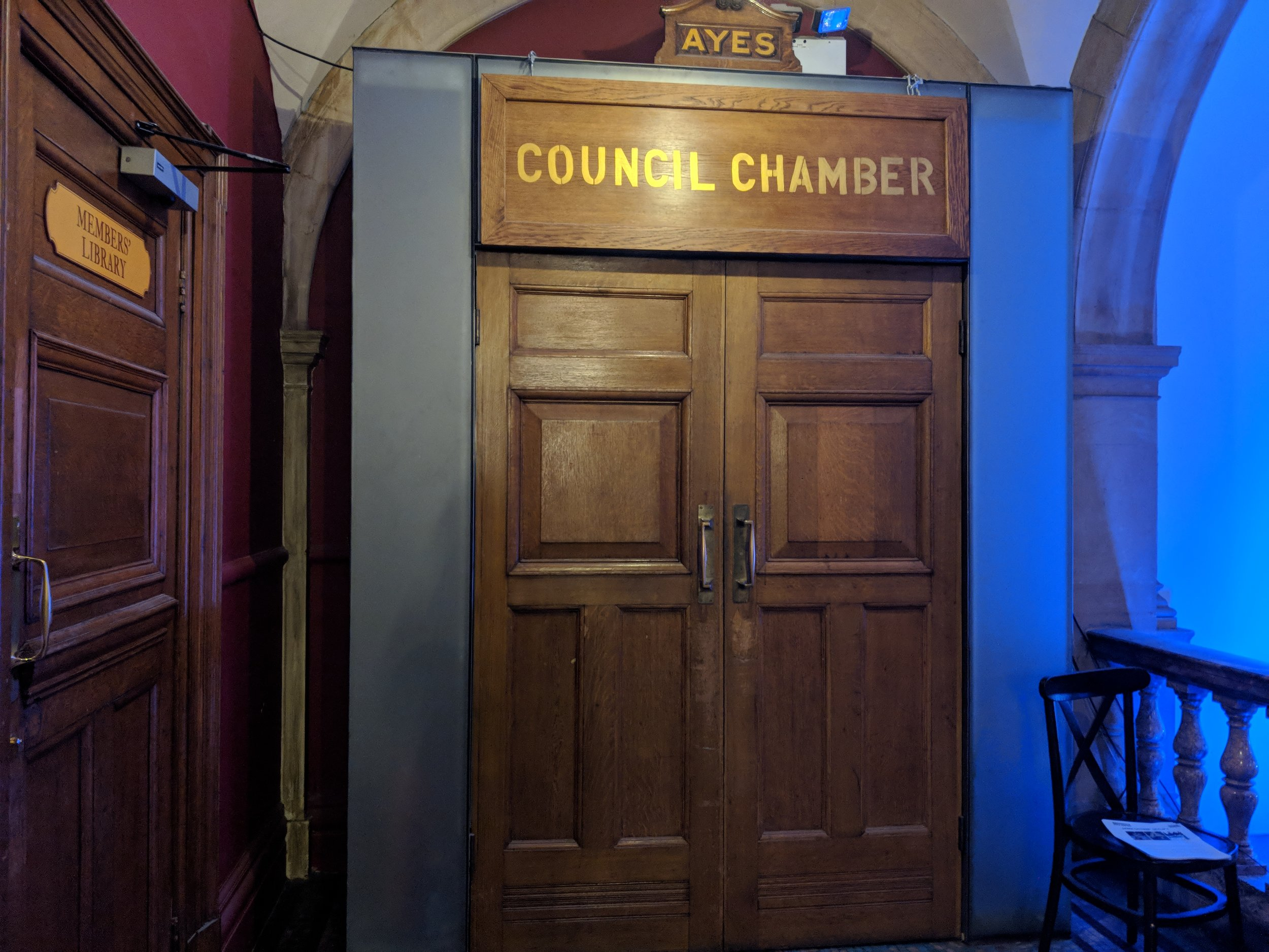Battersea Arts Centre (Council Chamber) - visited 29/03/2019