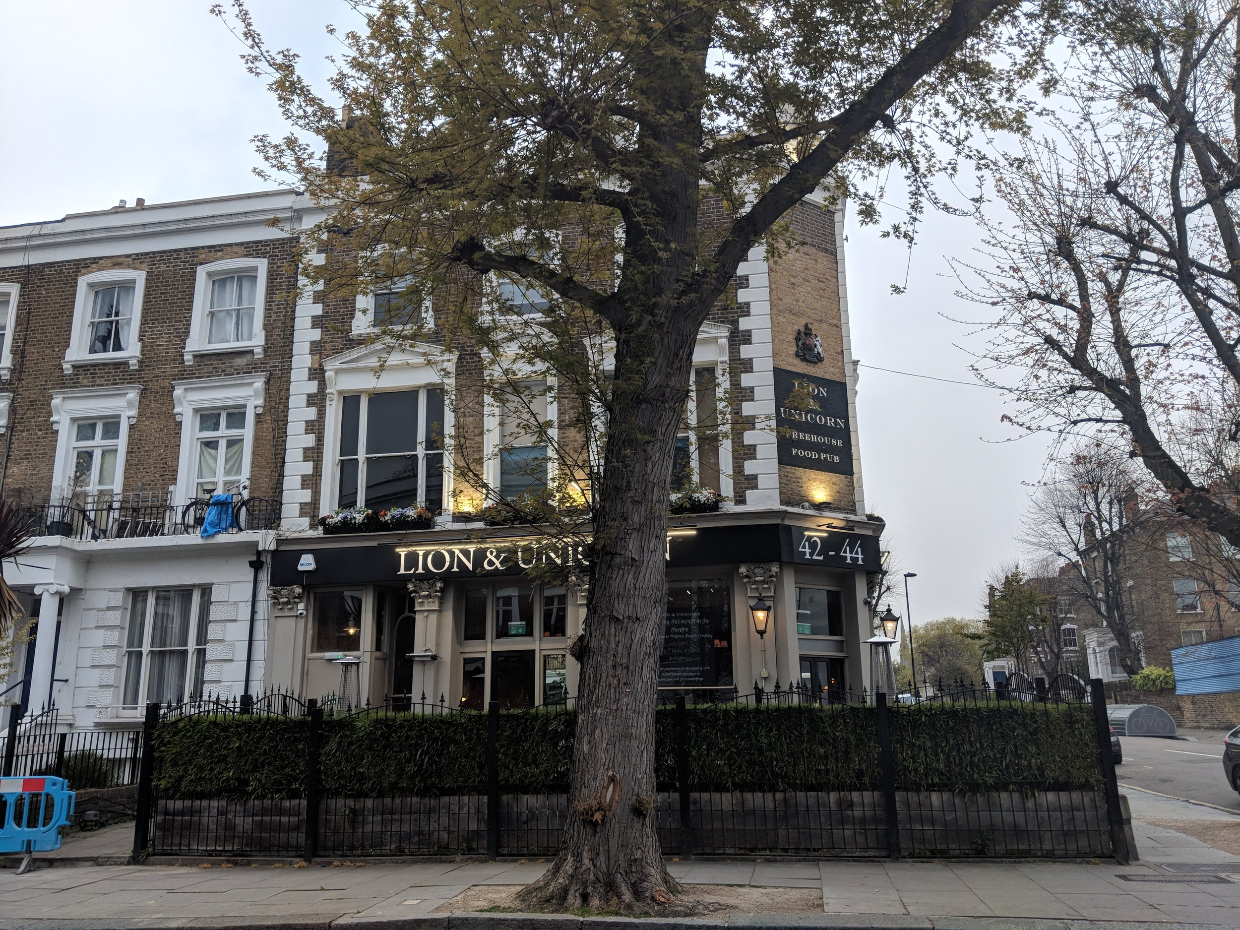 The Lion & Unicorn Theatre - visited 16/04/2019
