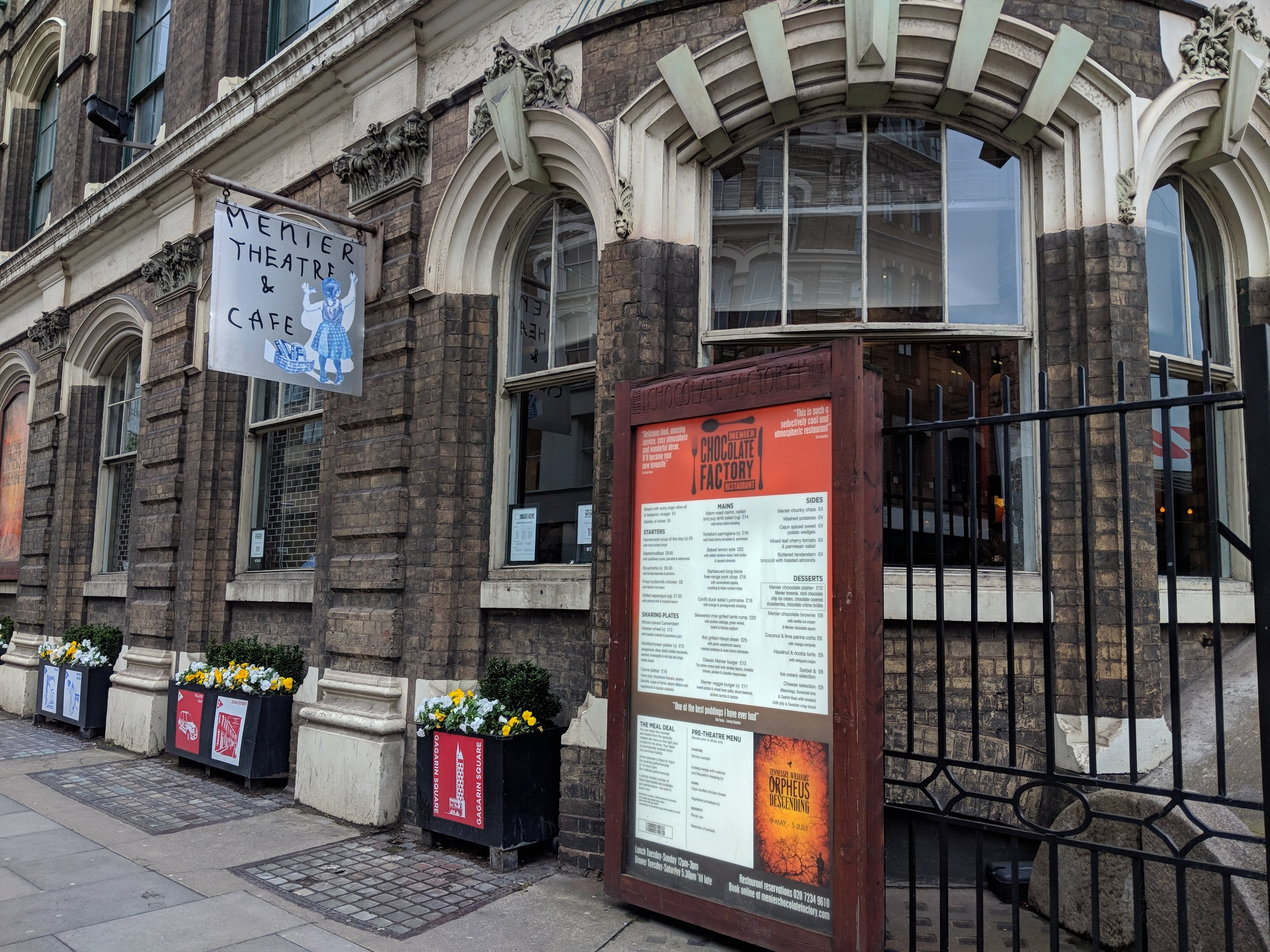 Menier Chocolate Factory - visited 09/05/2019