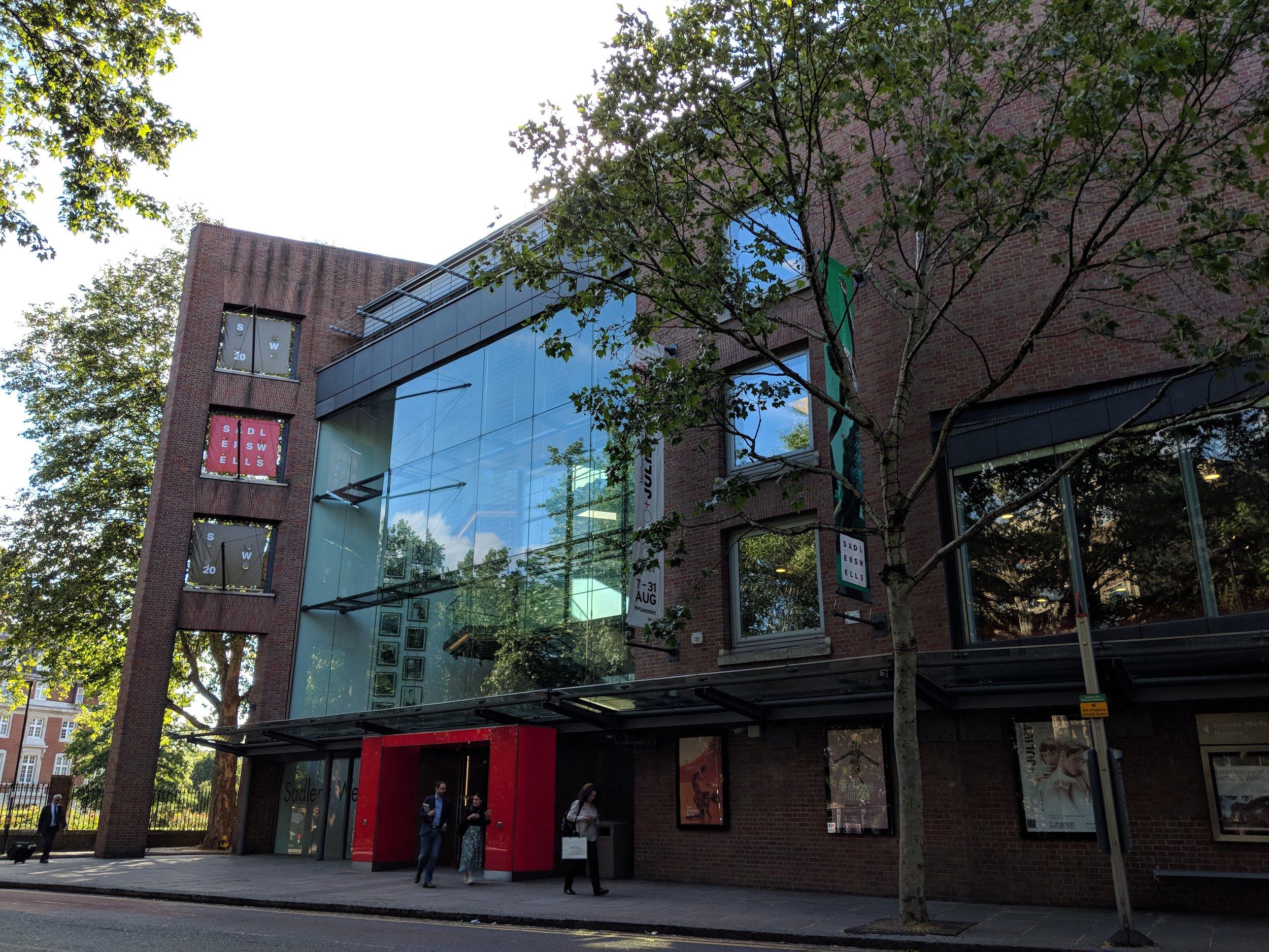 Sadler's Wells Theatre - visited 31/05/2019