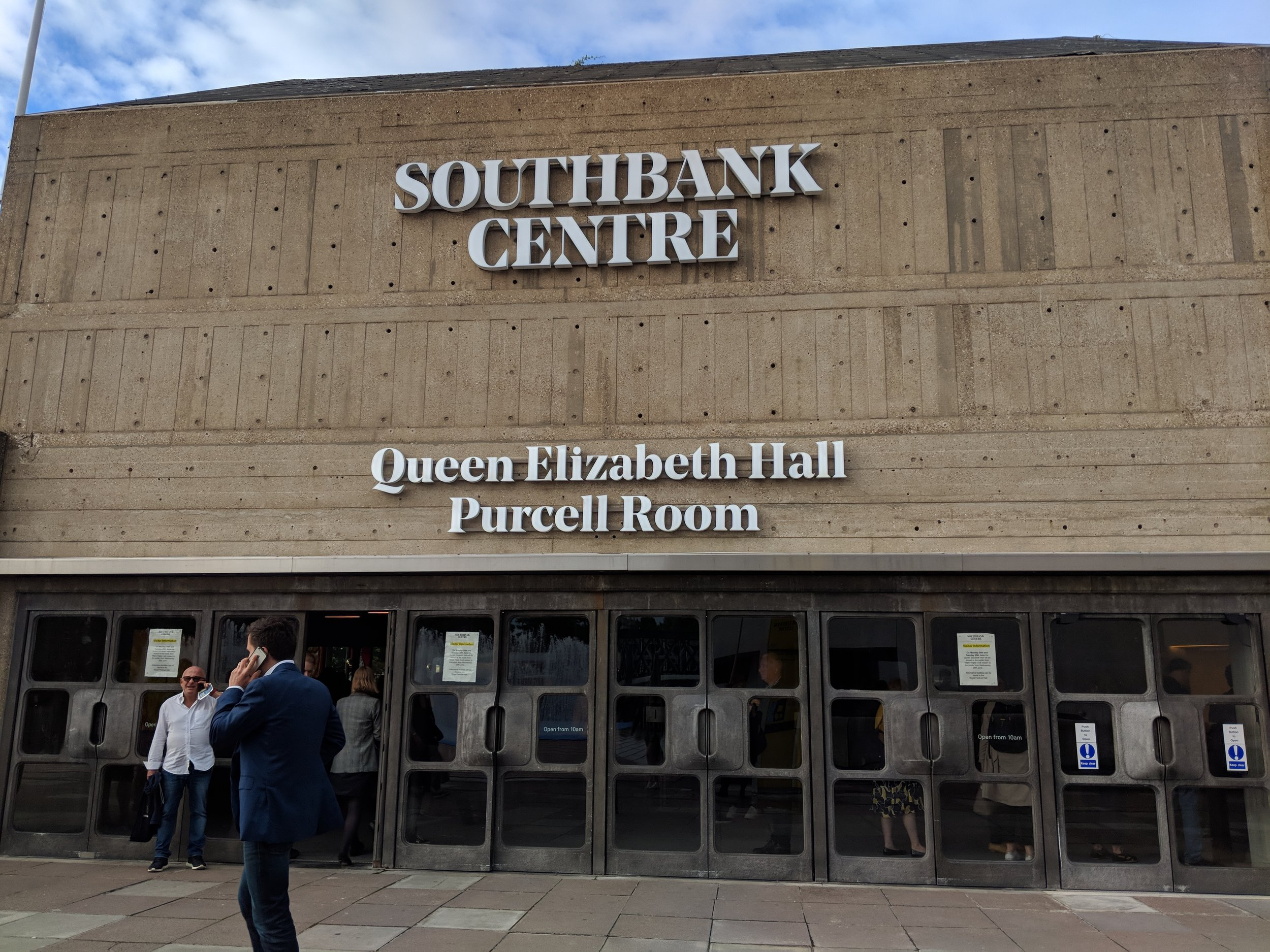 Southbank Centre(Queen Elizabeth Hall) - visited 20/06/2019