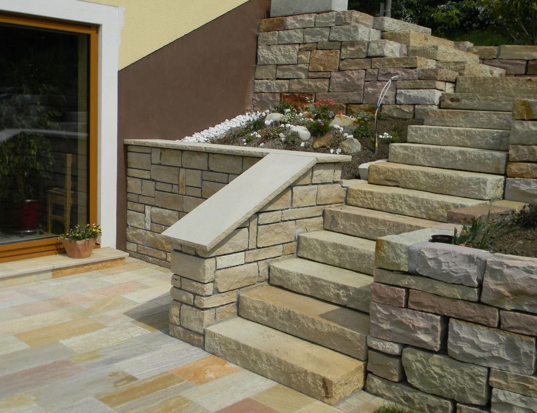 Sandstein Mint Naturstein Stufen Platten zeitlos .JPG