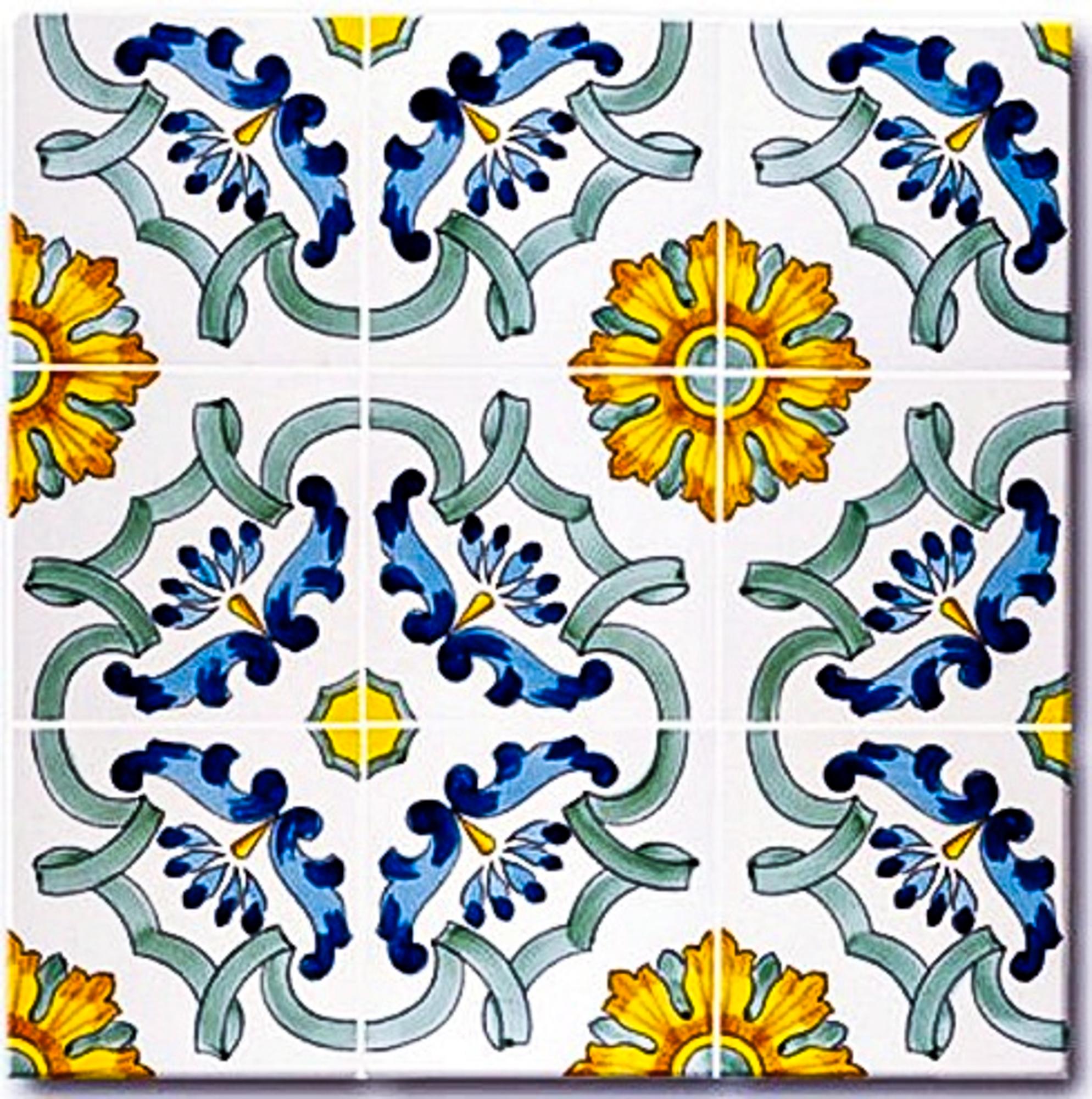 Ceramica Francesco de Maio-Serie Classico Vietri Maria Teresa 13 x 13 cm.jpg