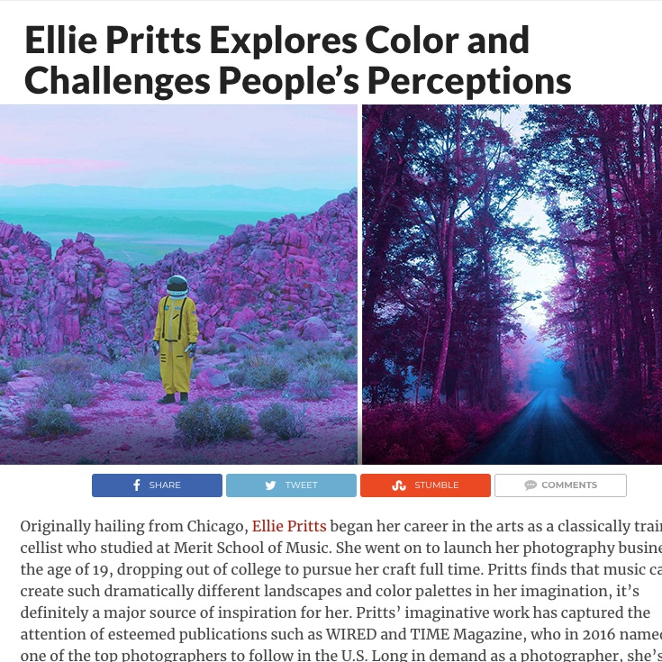 CURIOUS DOODLE - Ellie Pritts Explores Color and Challenges People's Perceptions