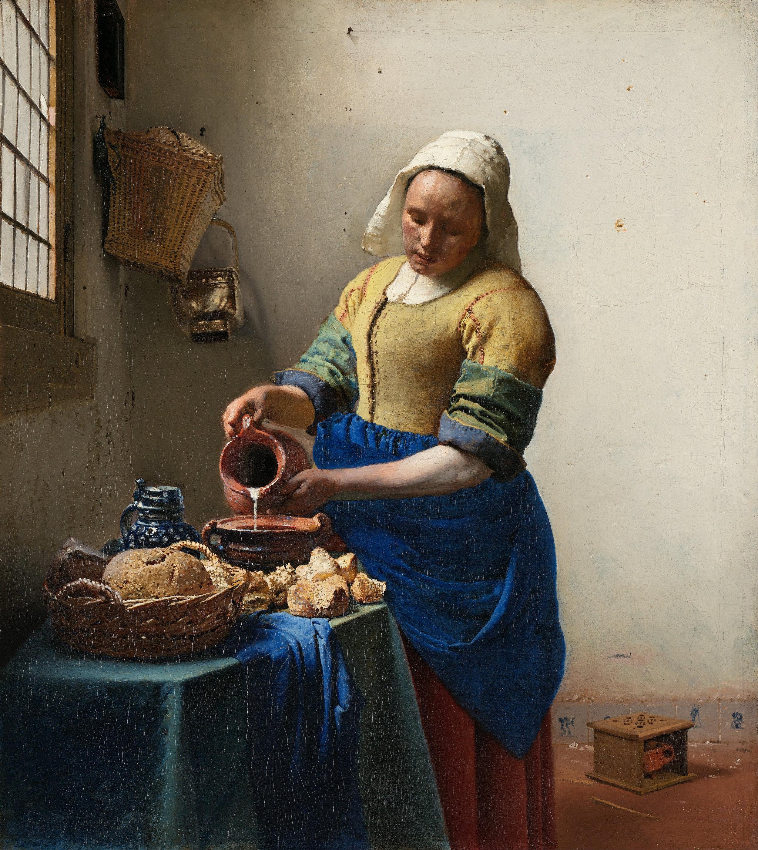 Johannes Vermeer, The Milkmaid, 1657.