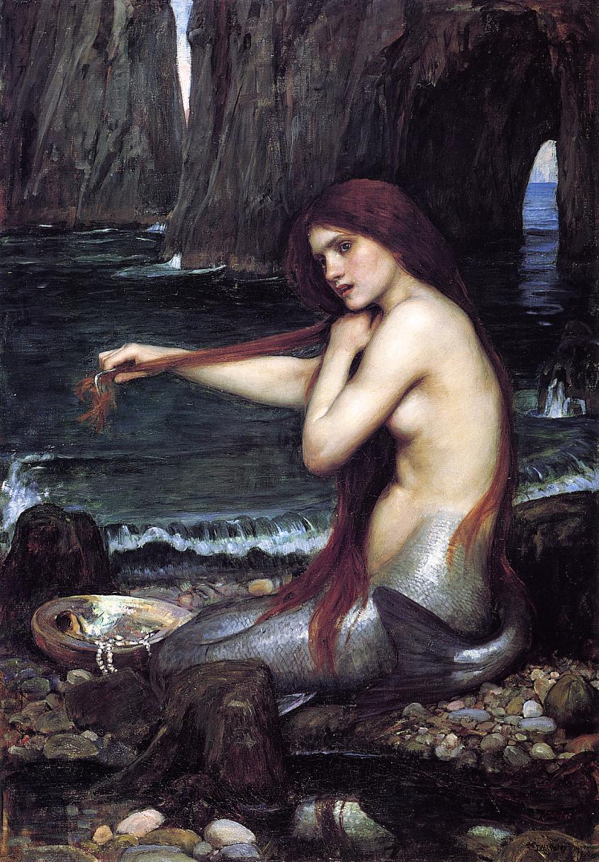 John William Waterhouse, A Mermaid, 1900.