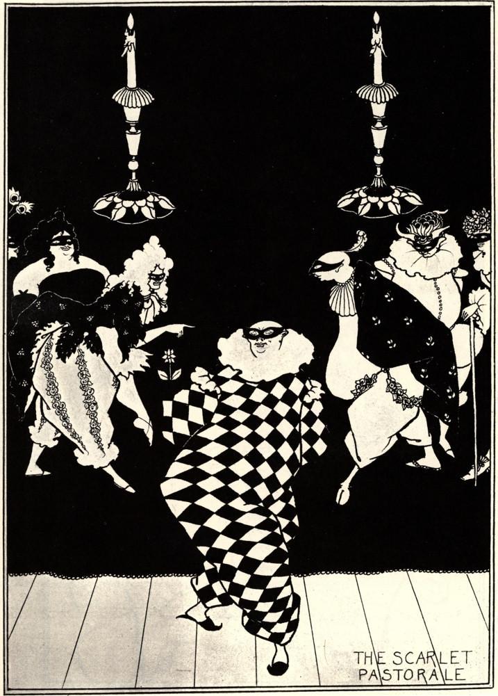 Aubrey Beardsley, The Scarlet Pastorale, 1896 .