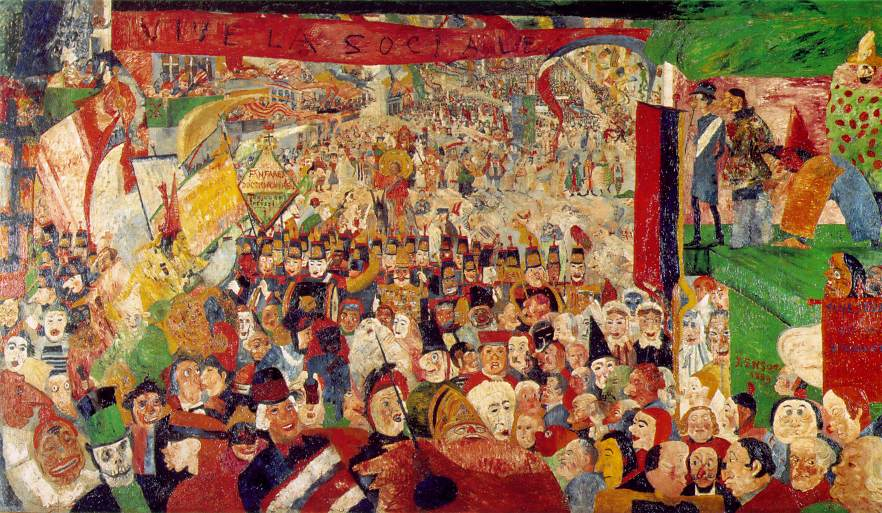James Ensor, The Entry of Christ into Brussels, 1889